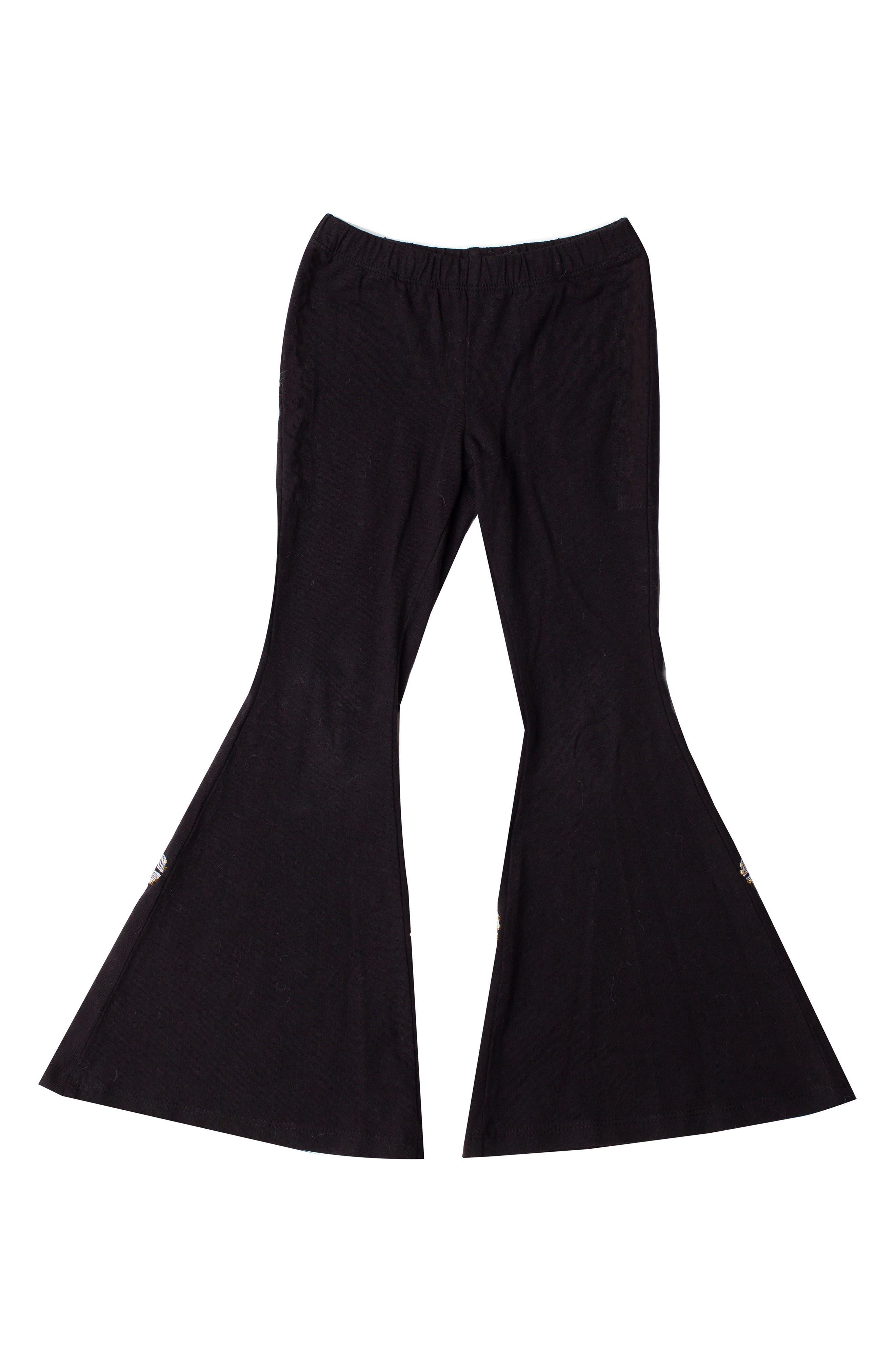 Flare Leg Pants,                             Main thumbnail 1, color,                             Black