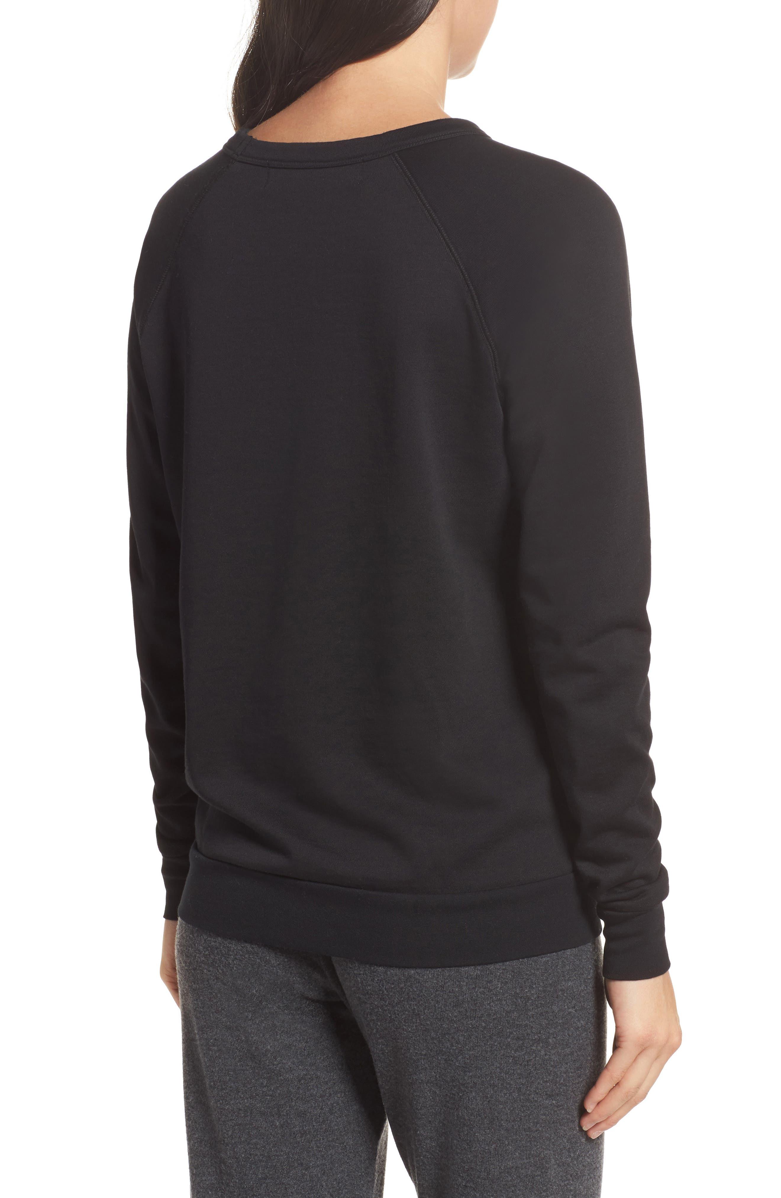 Pray For Wine Sweatshirt,                             Alternate thumbnail 2, color,                             Black
