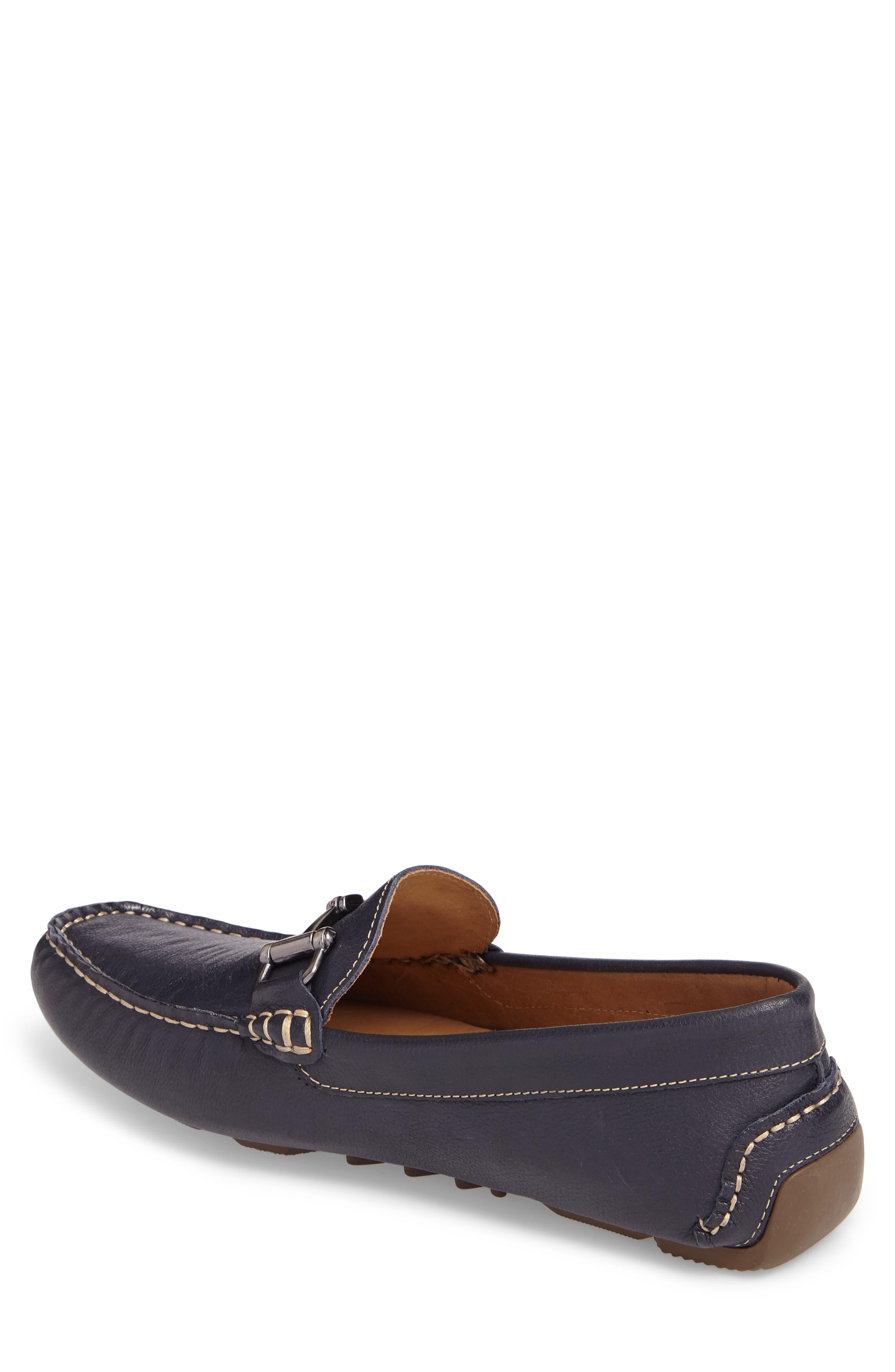 Topanga Driving Shoe,                             Alternate thumbnail 2, color,                             Navy Leather