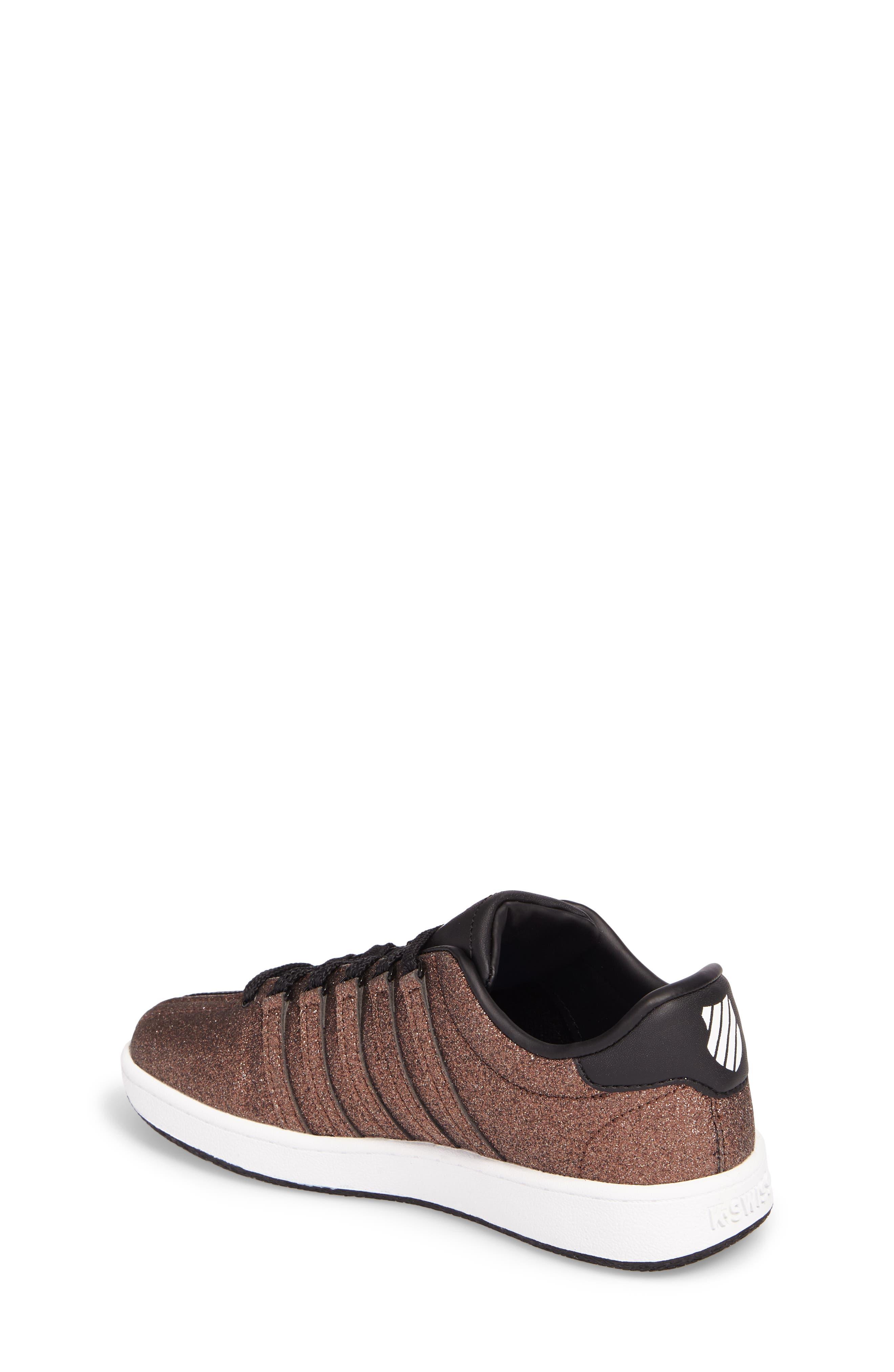 Alternate Image 2  - K-Swiss Classic VN Sparkle Low Top Sneaker (Baby, Walker, Toddler, Little Kid & Big Kid)