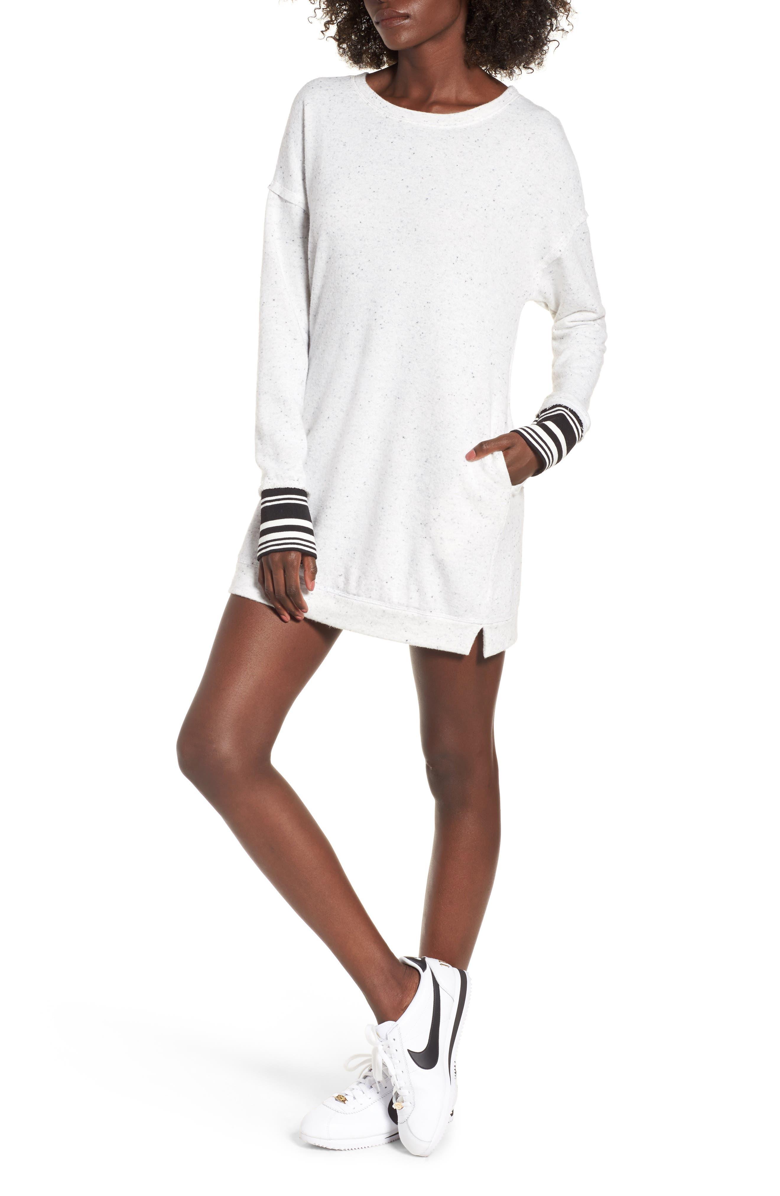 Socialite Athletic Trim Sweatshirt Dress