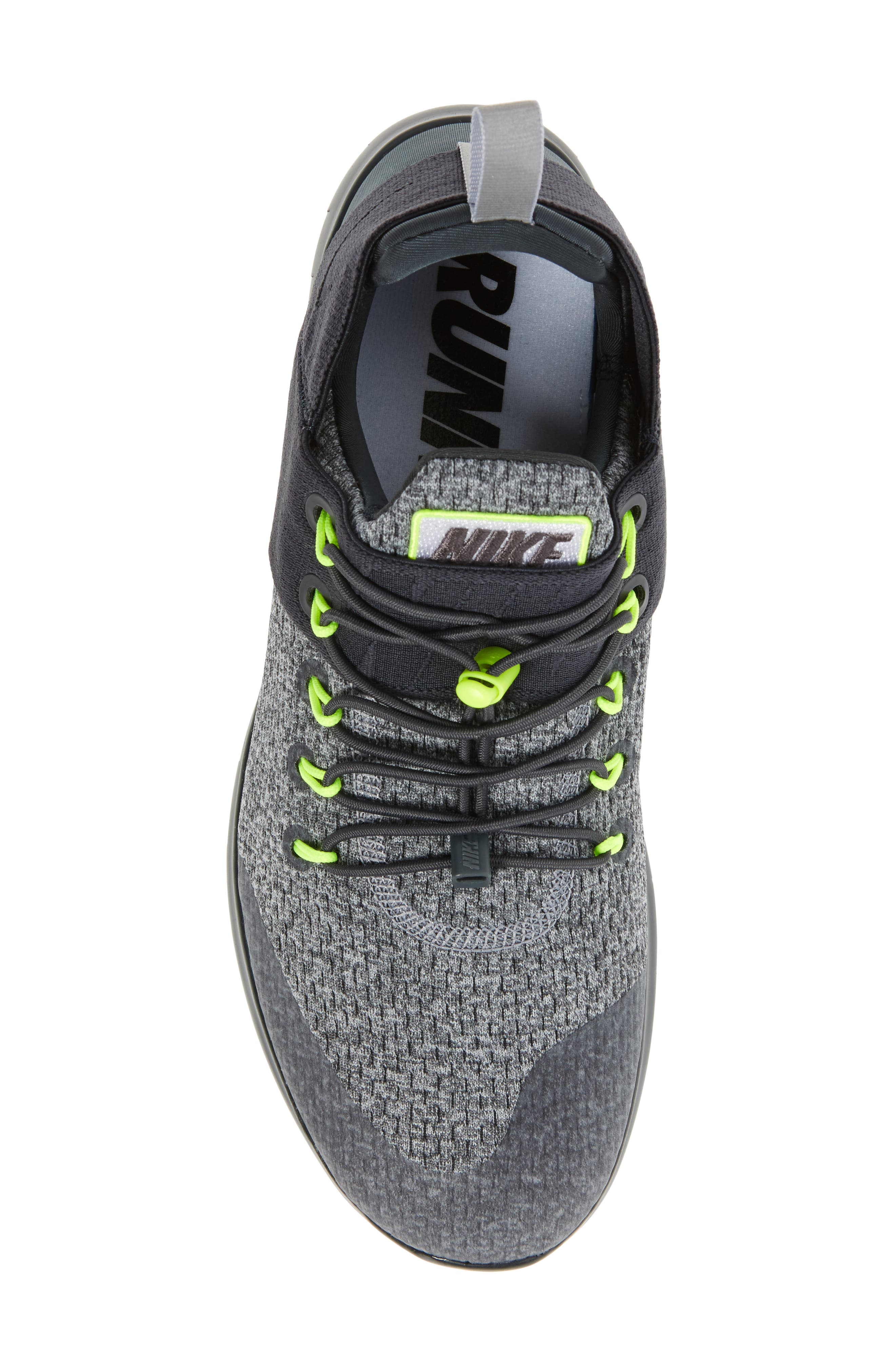 Free RN Commuter 2017 Running Shoe,                             Alternate thumbnail 5, color,                             Anthracite/Barely Volt/Grey