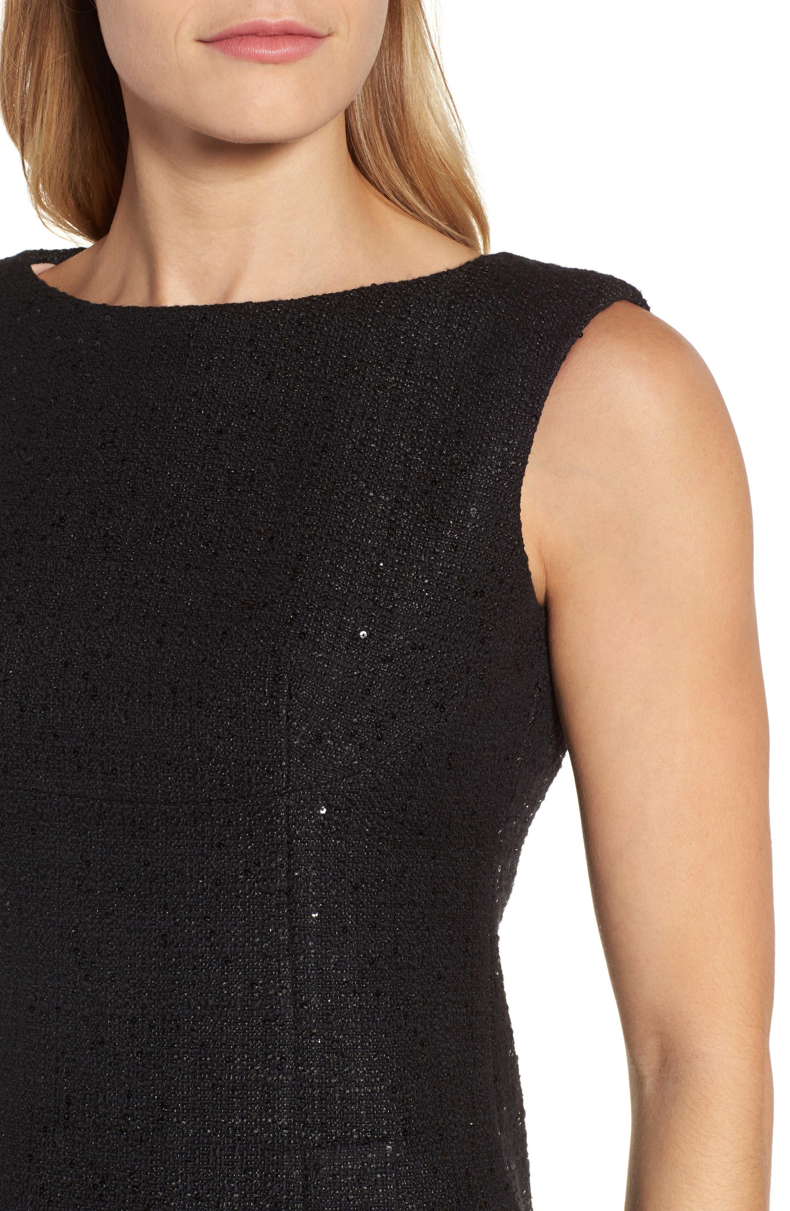 Alternate Image 4  - Anne Klein New York Sequin Tweed Sheath Dress
