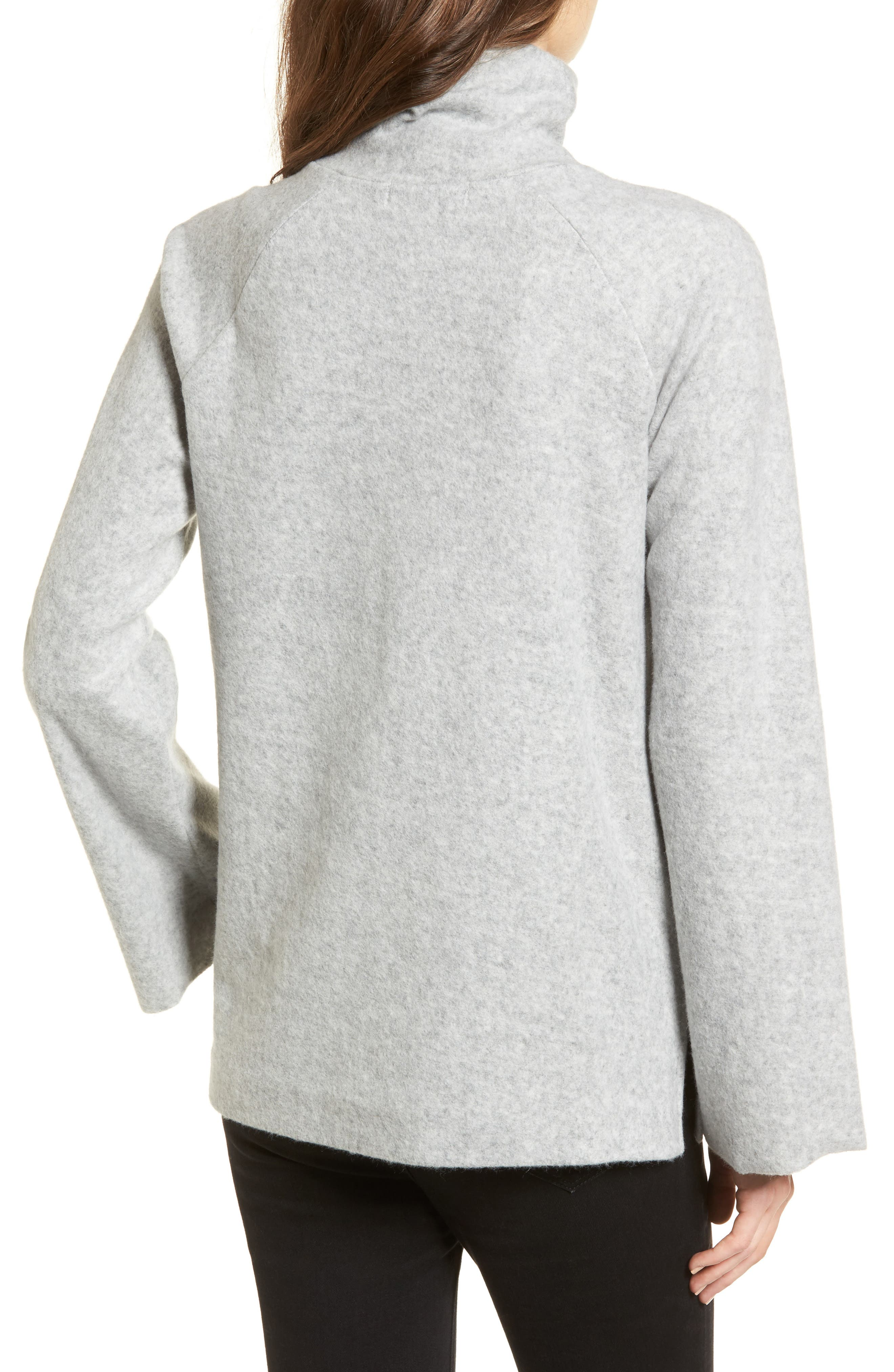 Bell Sleeve Sweatshirt,                             Alternate thumbnail 2, color,                             Grey Heather