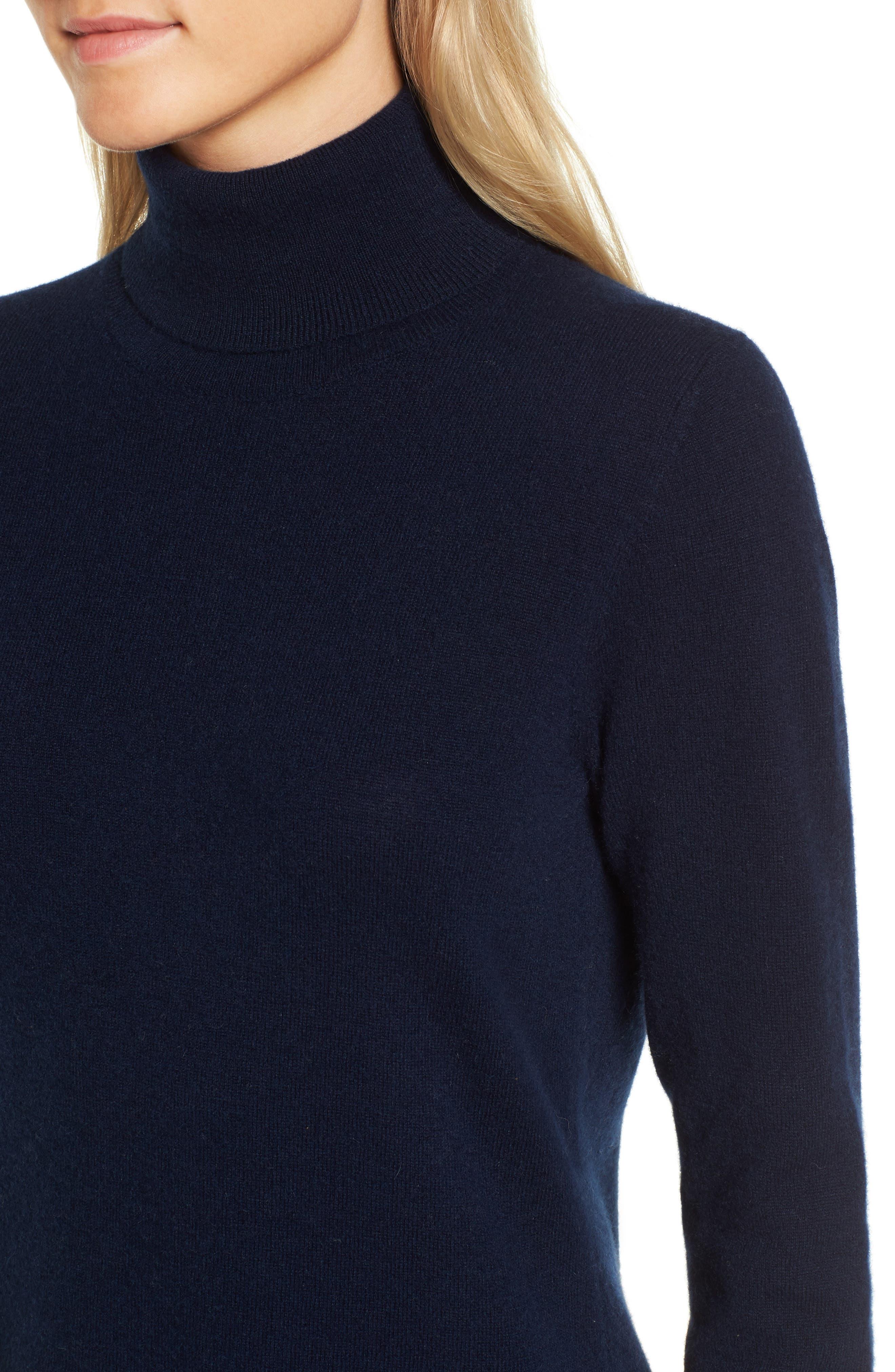 Alternate Image 4  - Nordstrom Signature Turtleneck Cashmere Sweater
