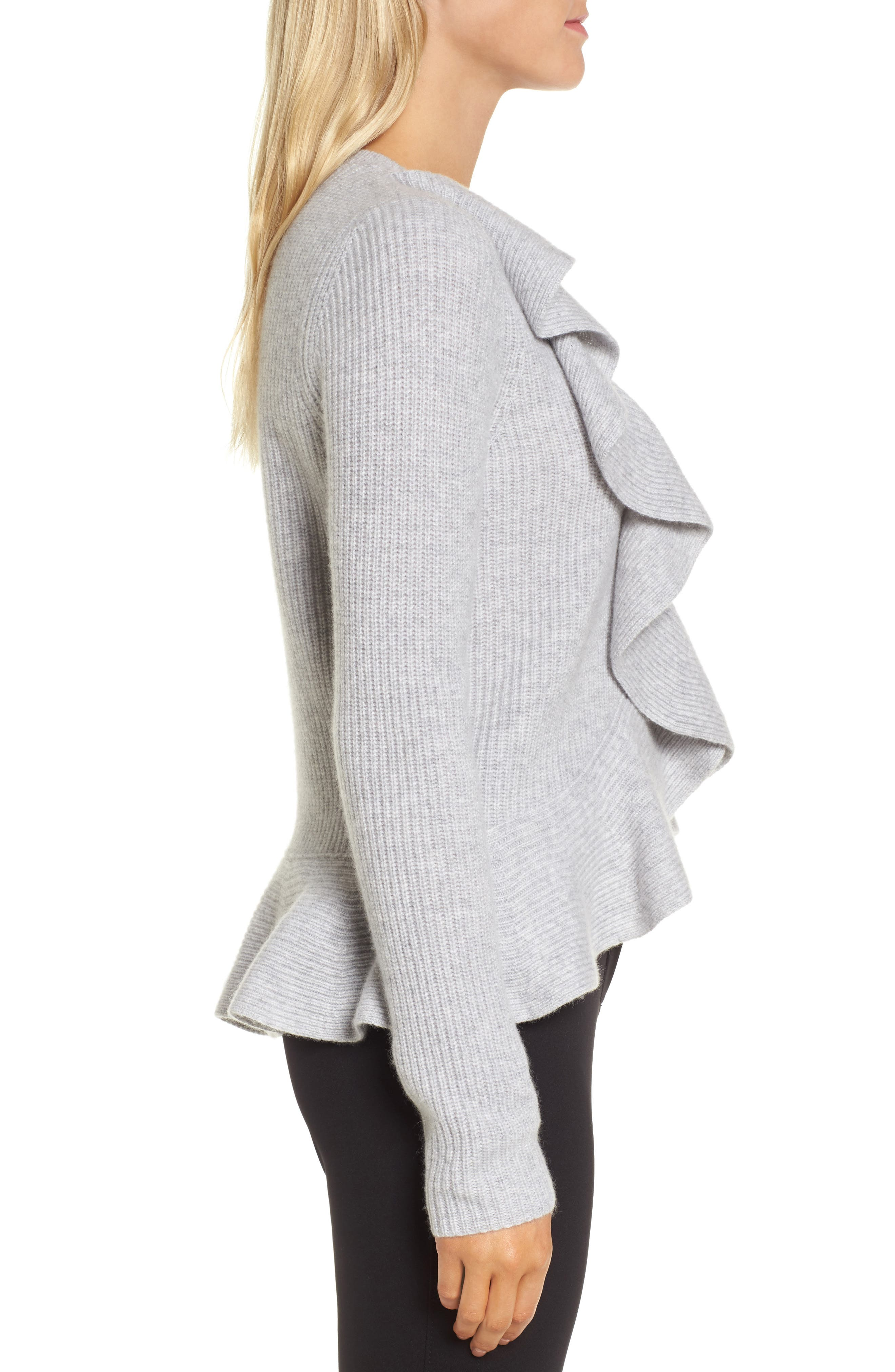 Alternate Image 3  - Nordstrom Signature Ruffled Cashmere Sweater