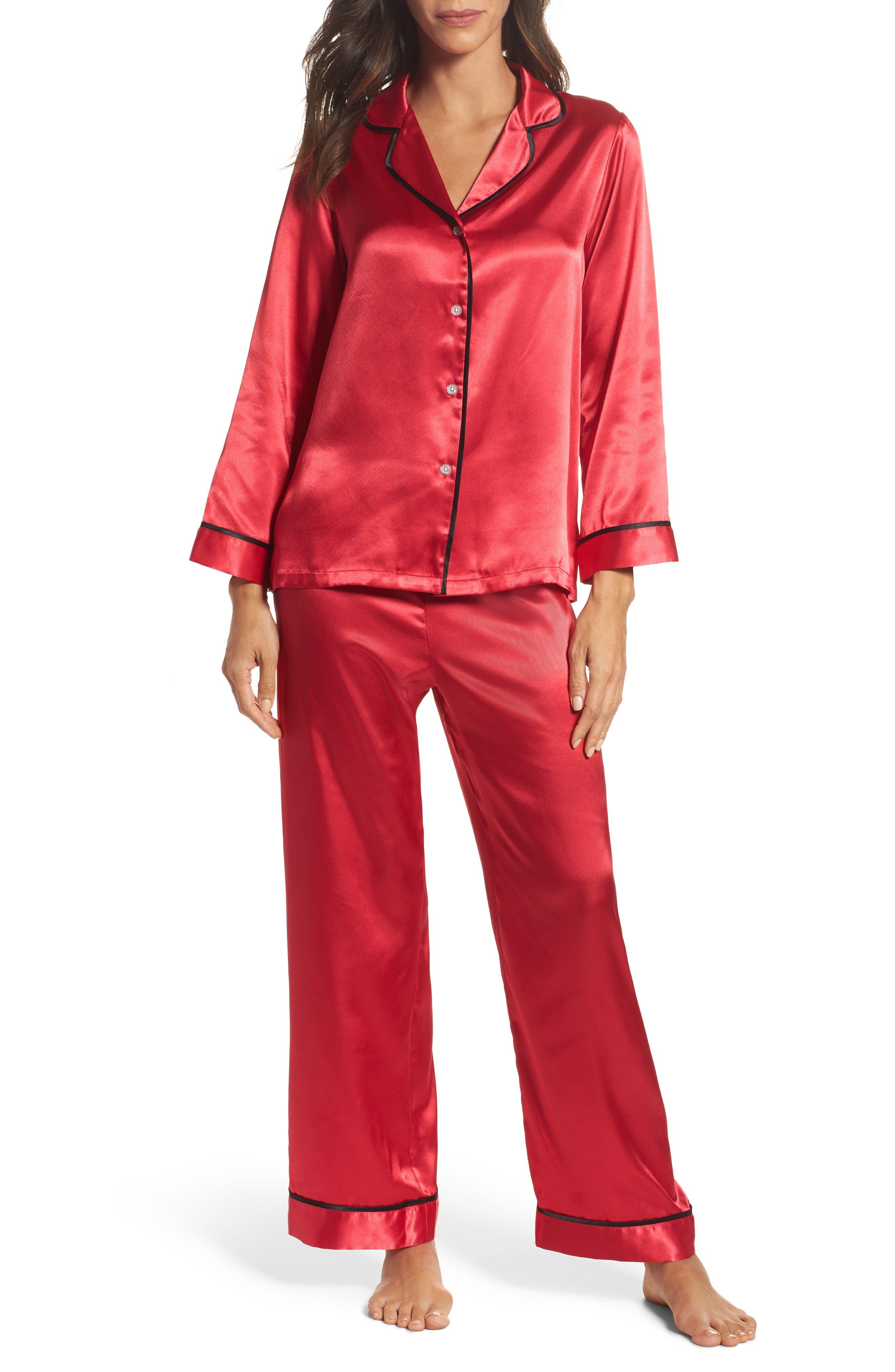 Oscar de la Renta Sleepwear Charmeuse Pajamas