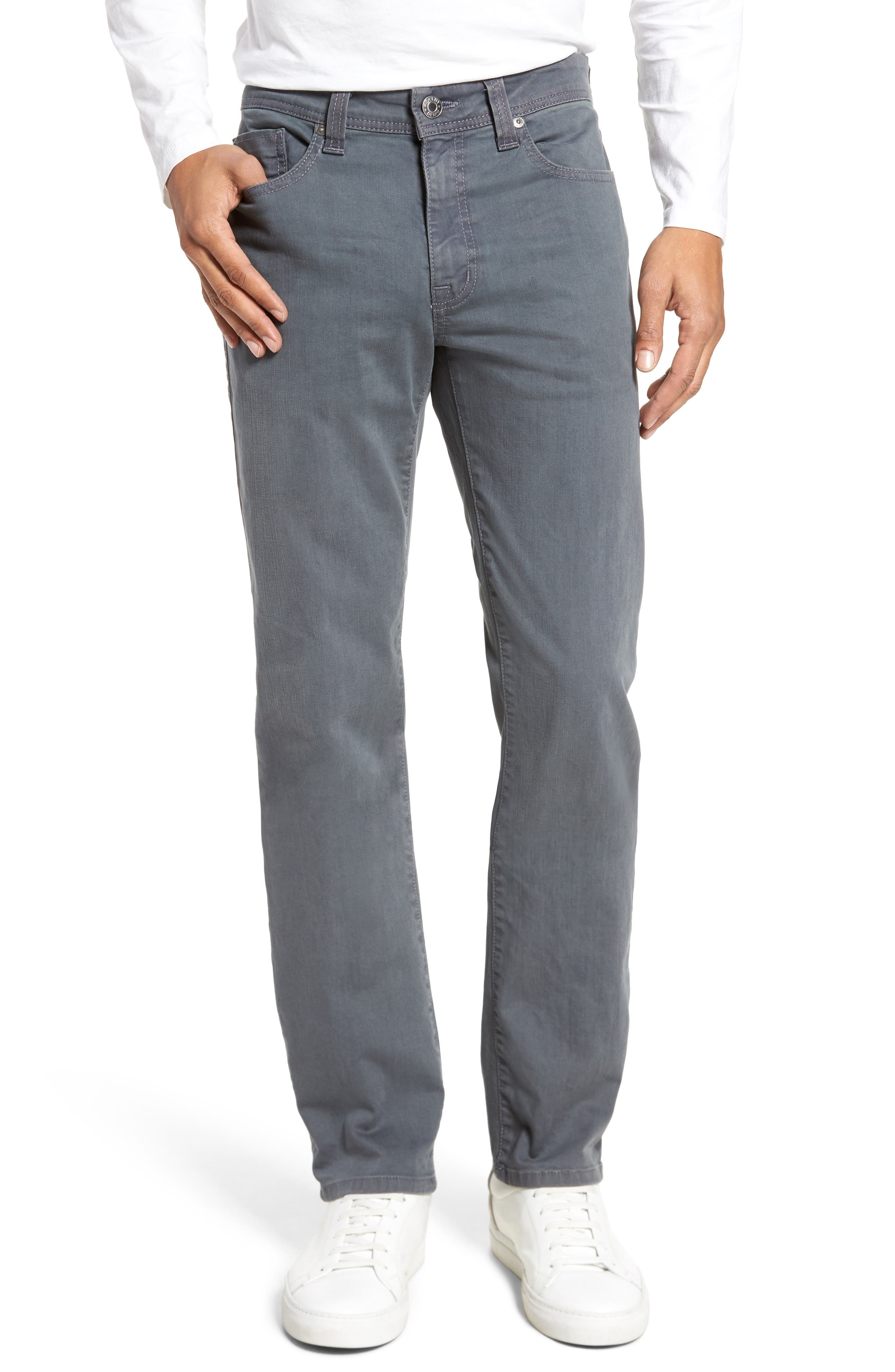 Main Image - Fidelity Denim Jimmy Slim Straight Fit Jeans (Oyster)