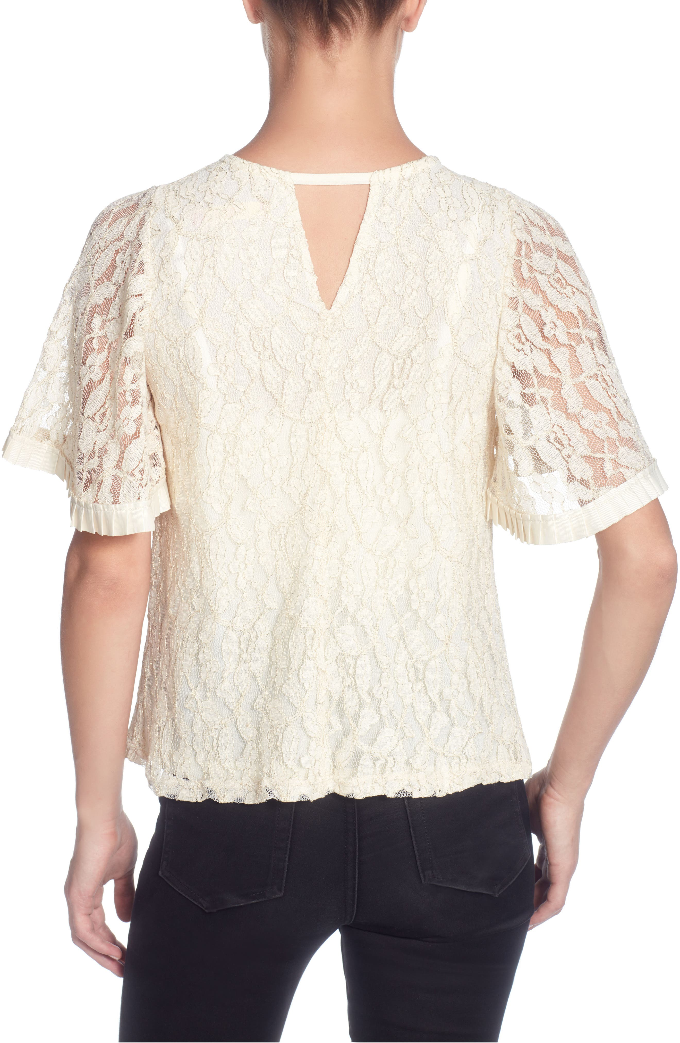Opal Lace Top,                             Alternate thumbnail 2, color,                             Ivory