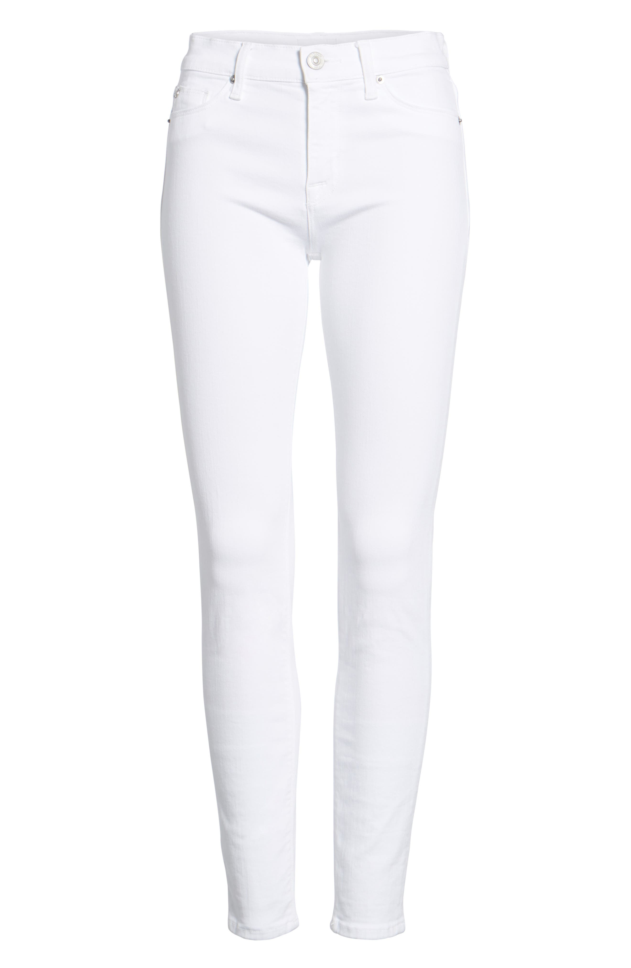 Nico Ankle Super Skinny Jeans,                             Alternate thumbnail 7, color,                             Optical White