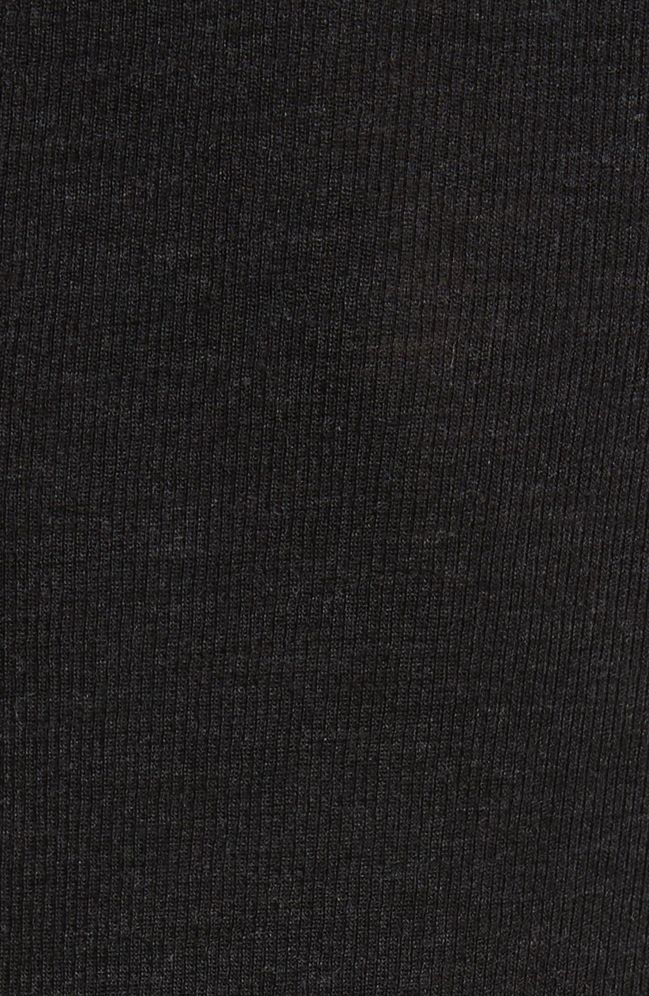 Surplus Off the Shoulder Knit Top,                             Alternate thumbnail 5, color,                             Black