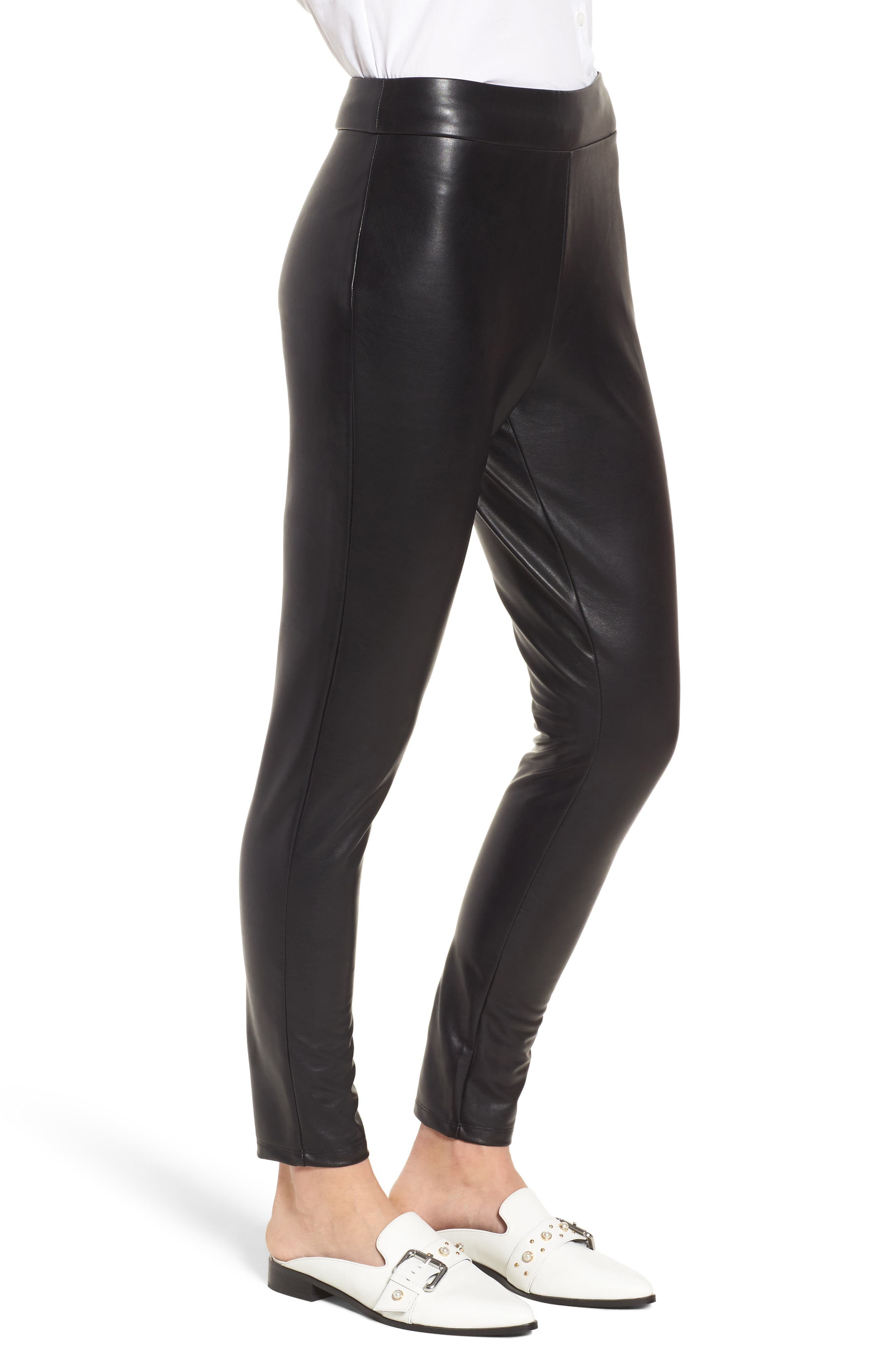 Alternate Image 3  - Leith High Waist Faux Leather Leggings