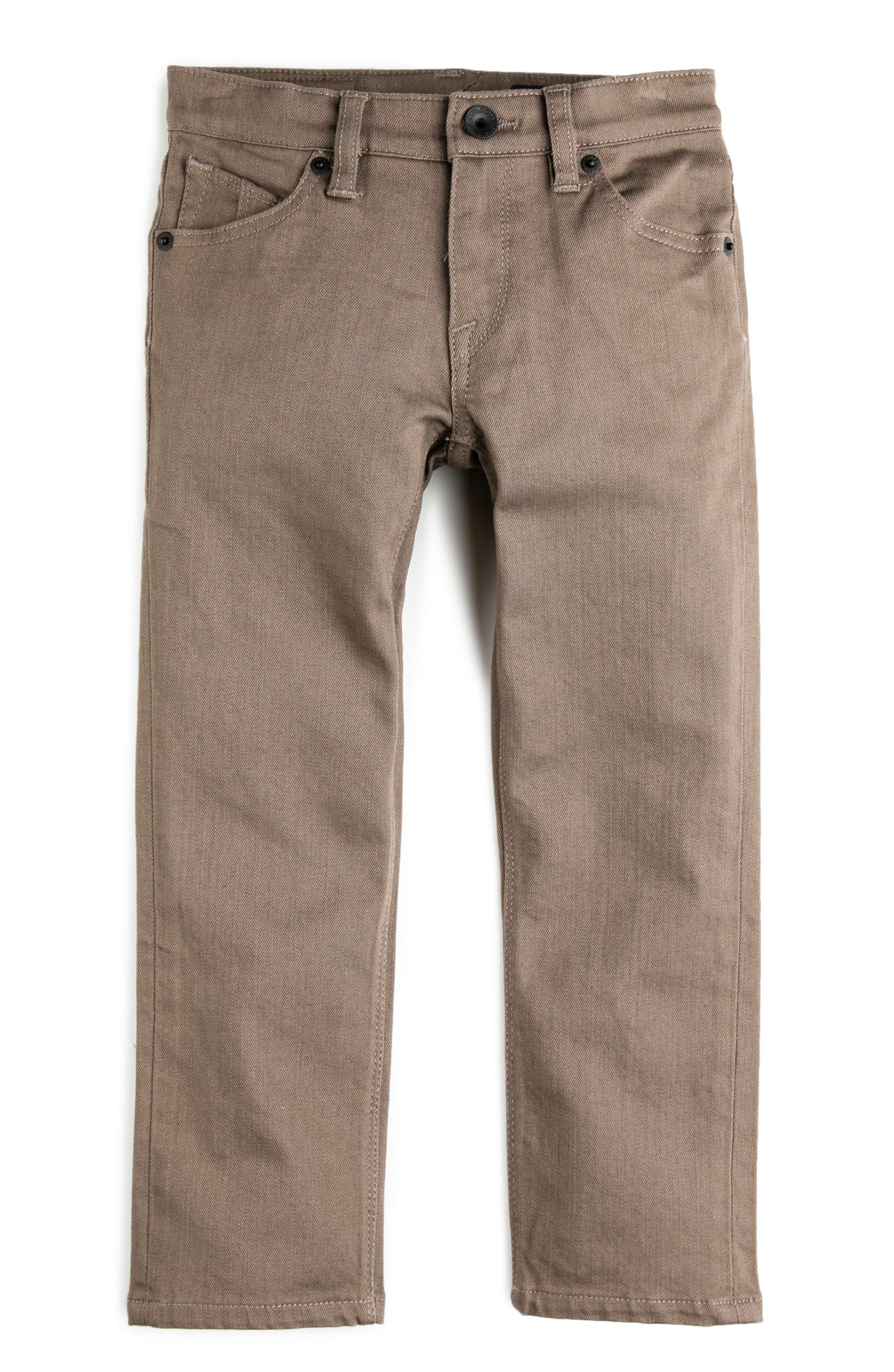 Vorta Slubbed Jeans,                         Main,                         color, Mushroom
