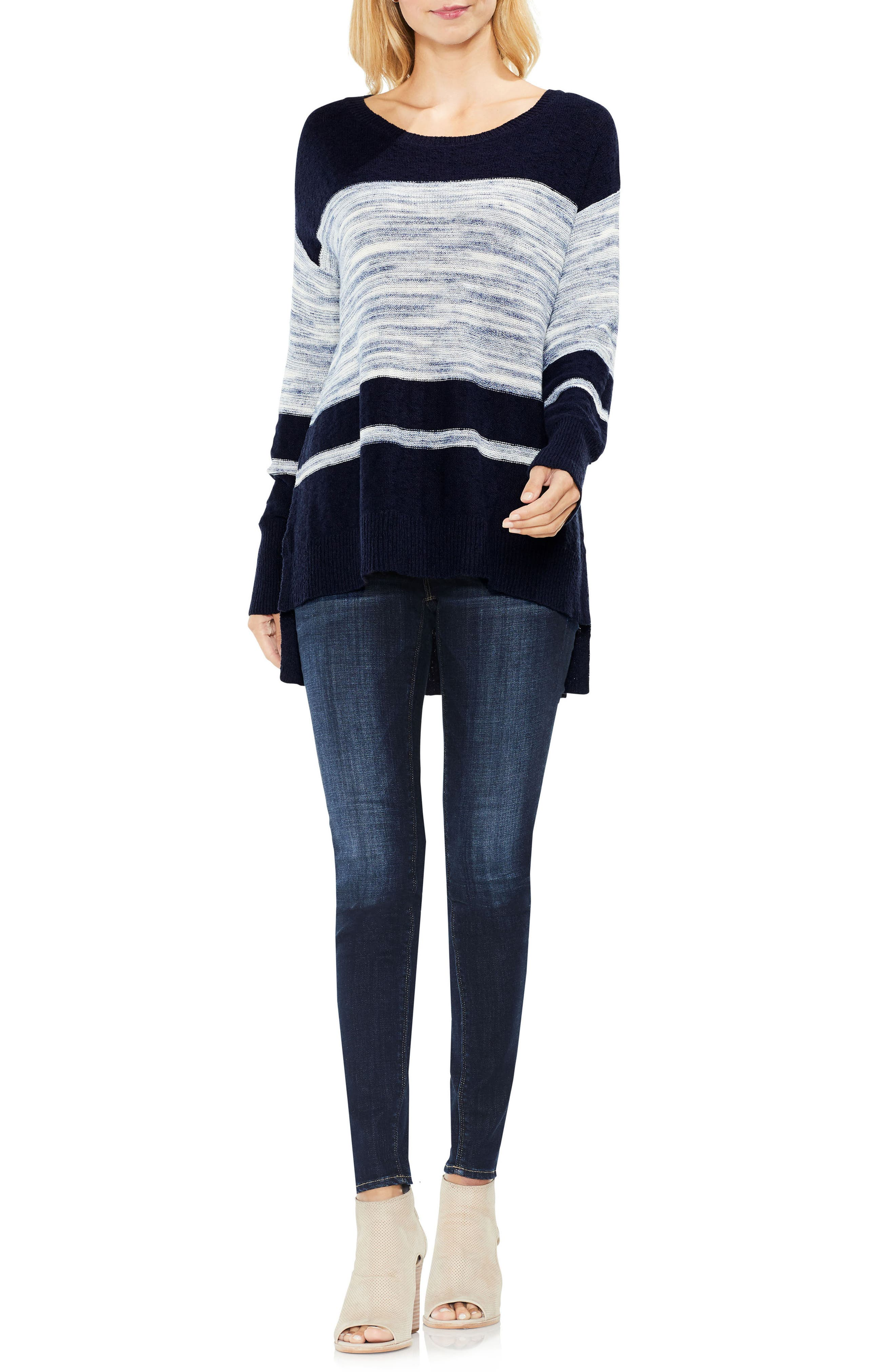Alternate Image 3  - Two by Vince Camuto Space Dye Stripe Sweater