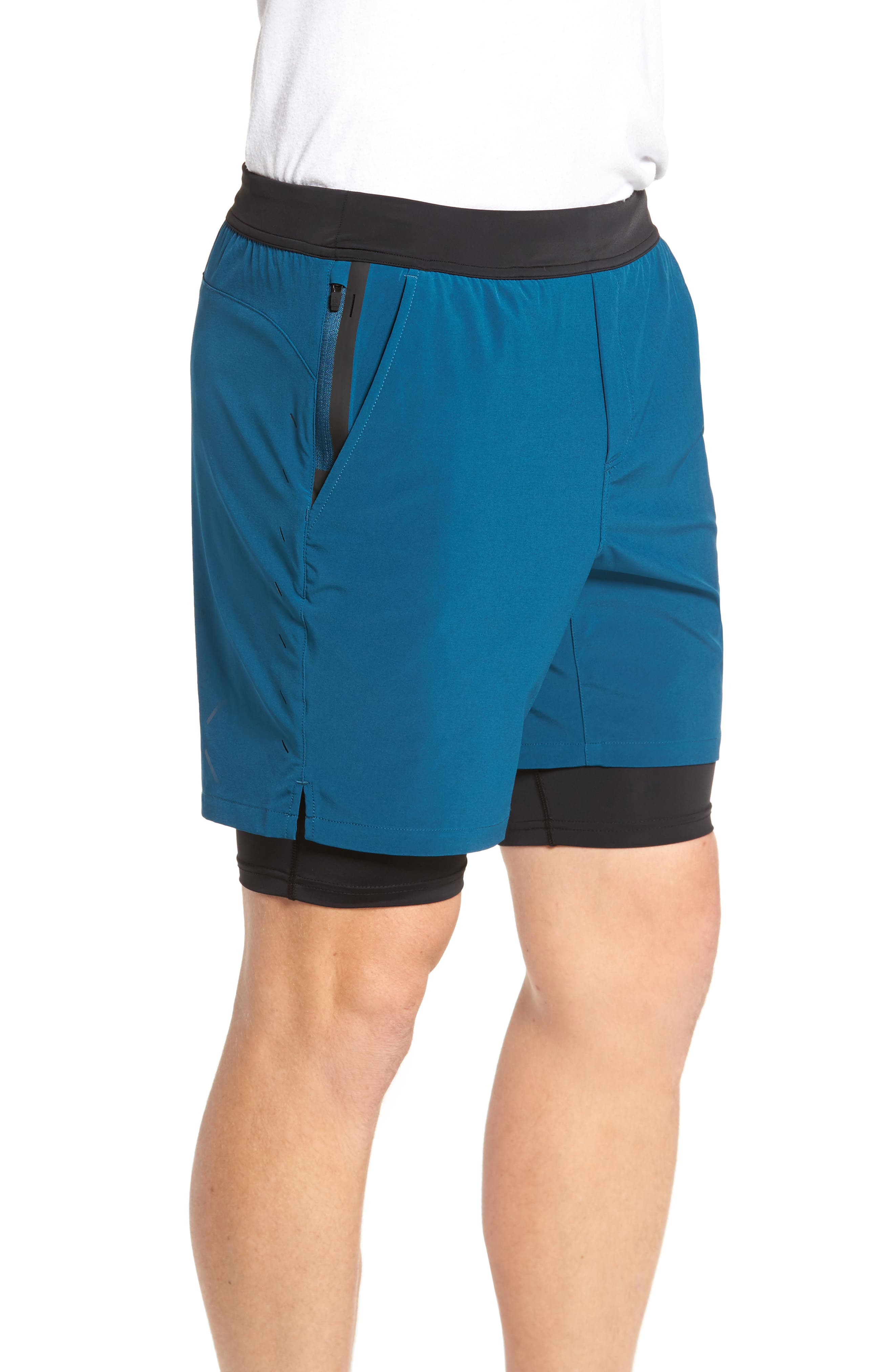 Interval Athletic Shorts,                             Alternate thumbnail 3, color,                             Dark Teal