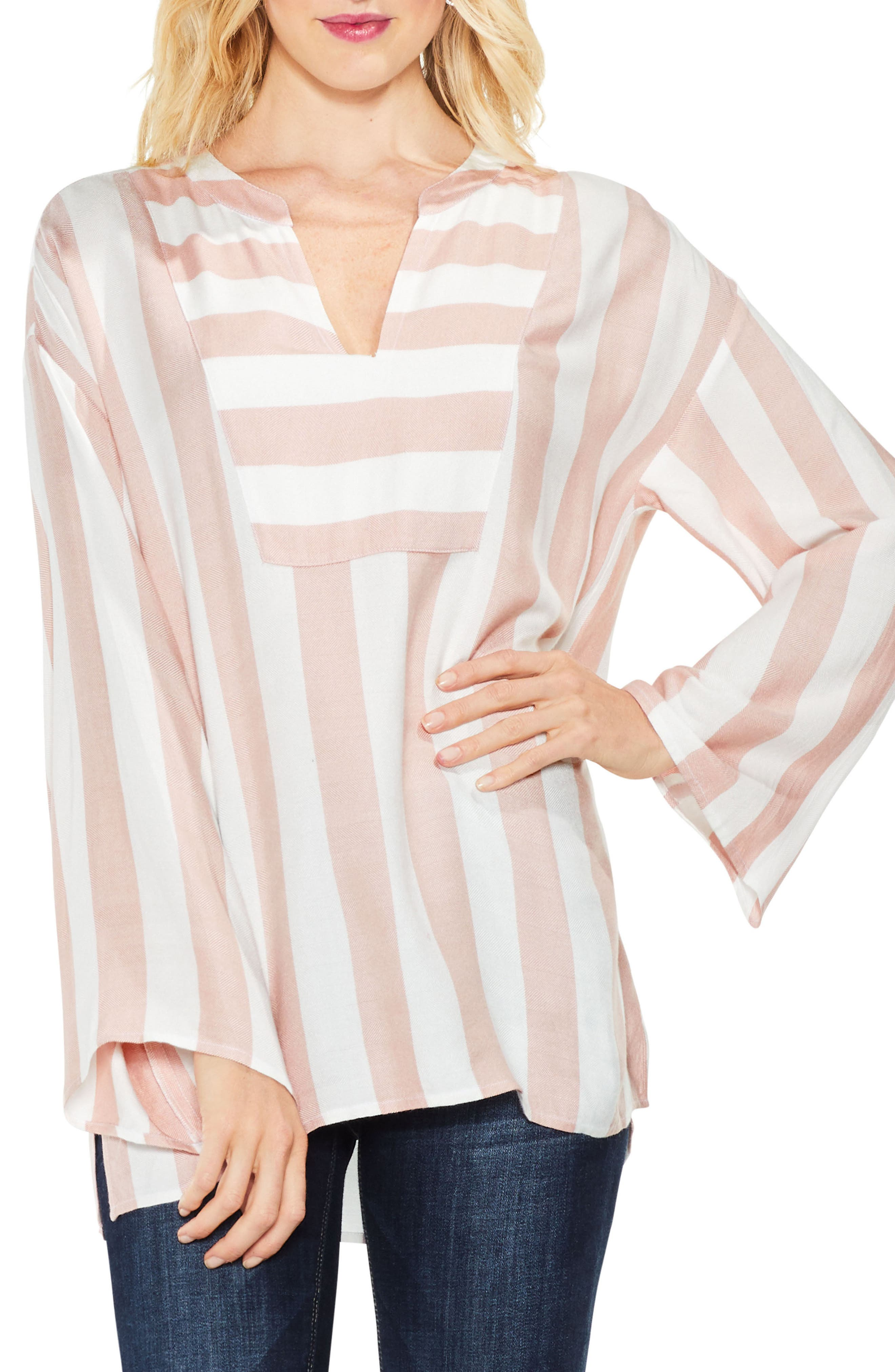 Bell Sleeve Top,                         Main,                         color, Light Rosewood