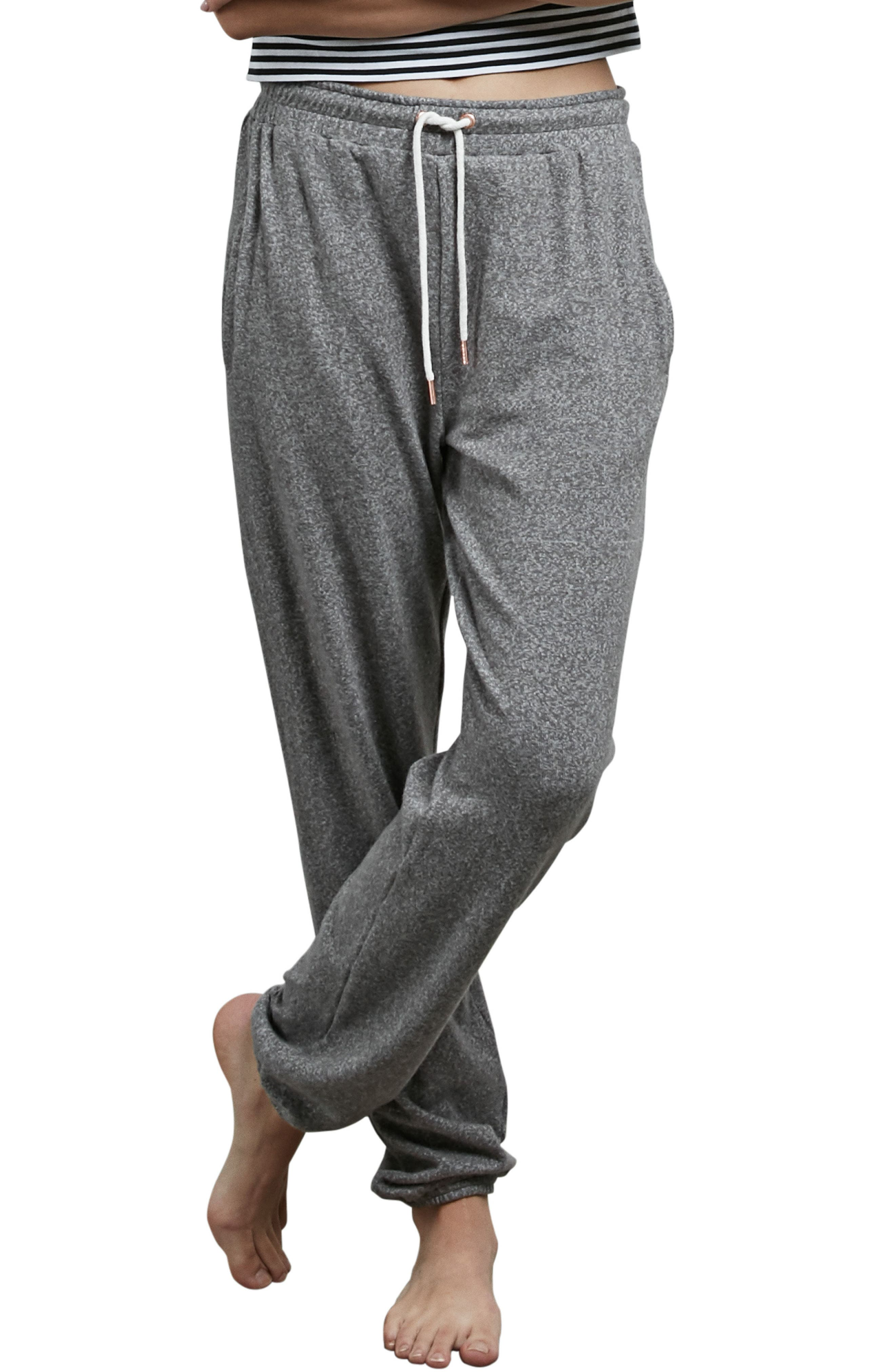 Lil Fleece Sweatpants,                         Main,                         color, Charcoal