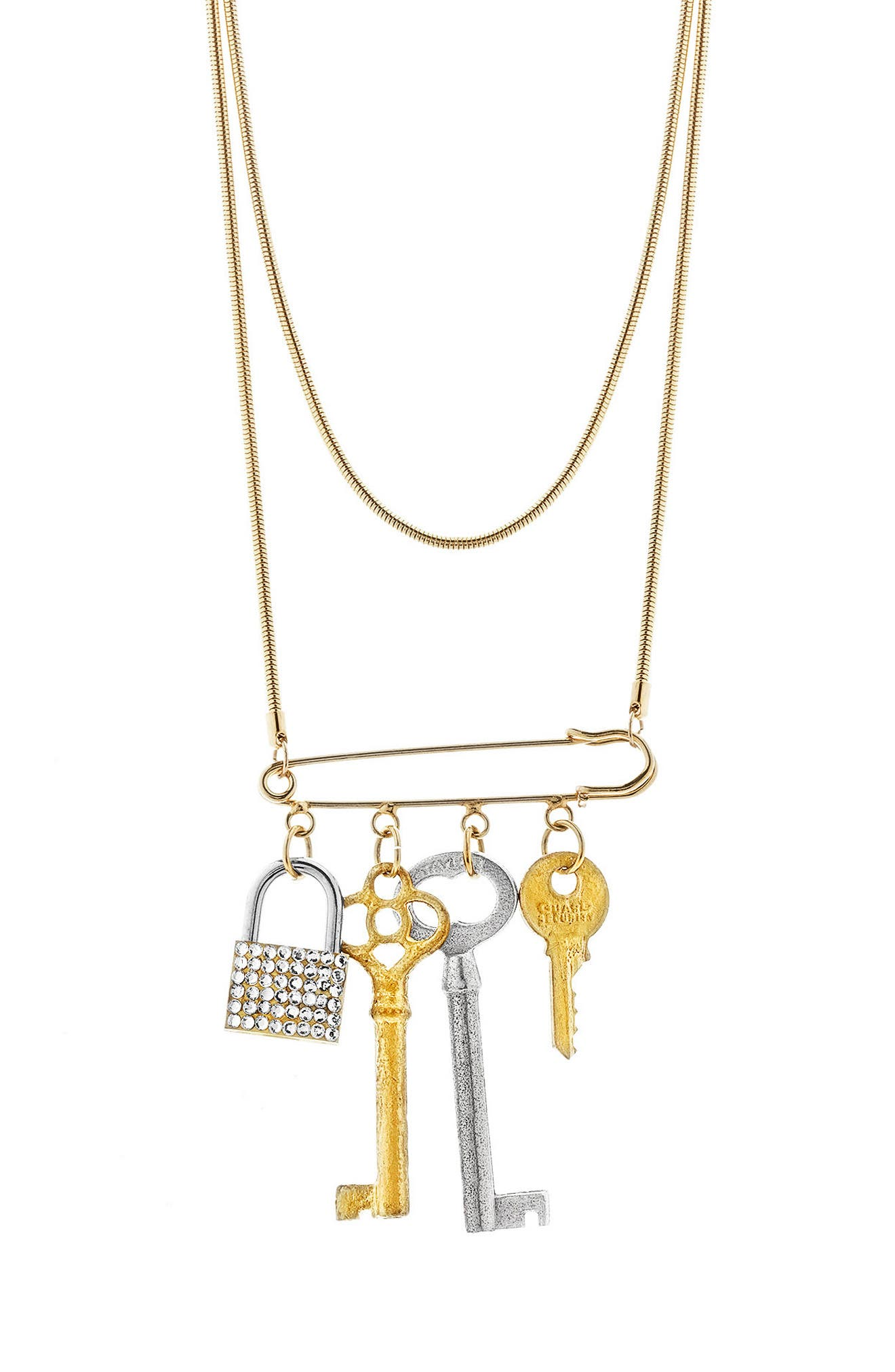 Tubetto Multistrand Necklace,                             Main thumbnail 1, color,                             Gold