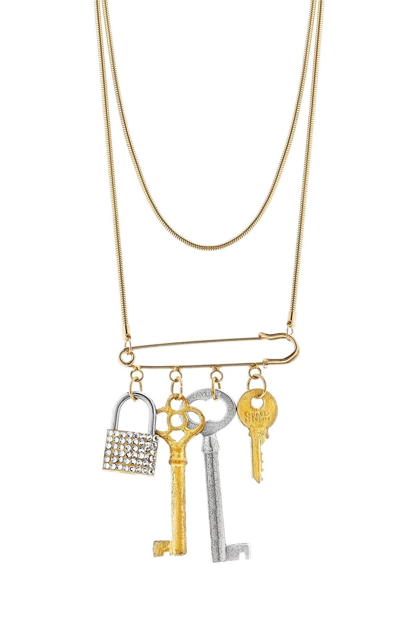 Tubetto Multistrand Necklace,                         Main,                         color, Gold