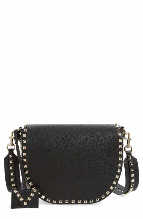 b7bfc52096ed VALENTINO GARAVANI Rockstud Leather Saddle Bag
