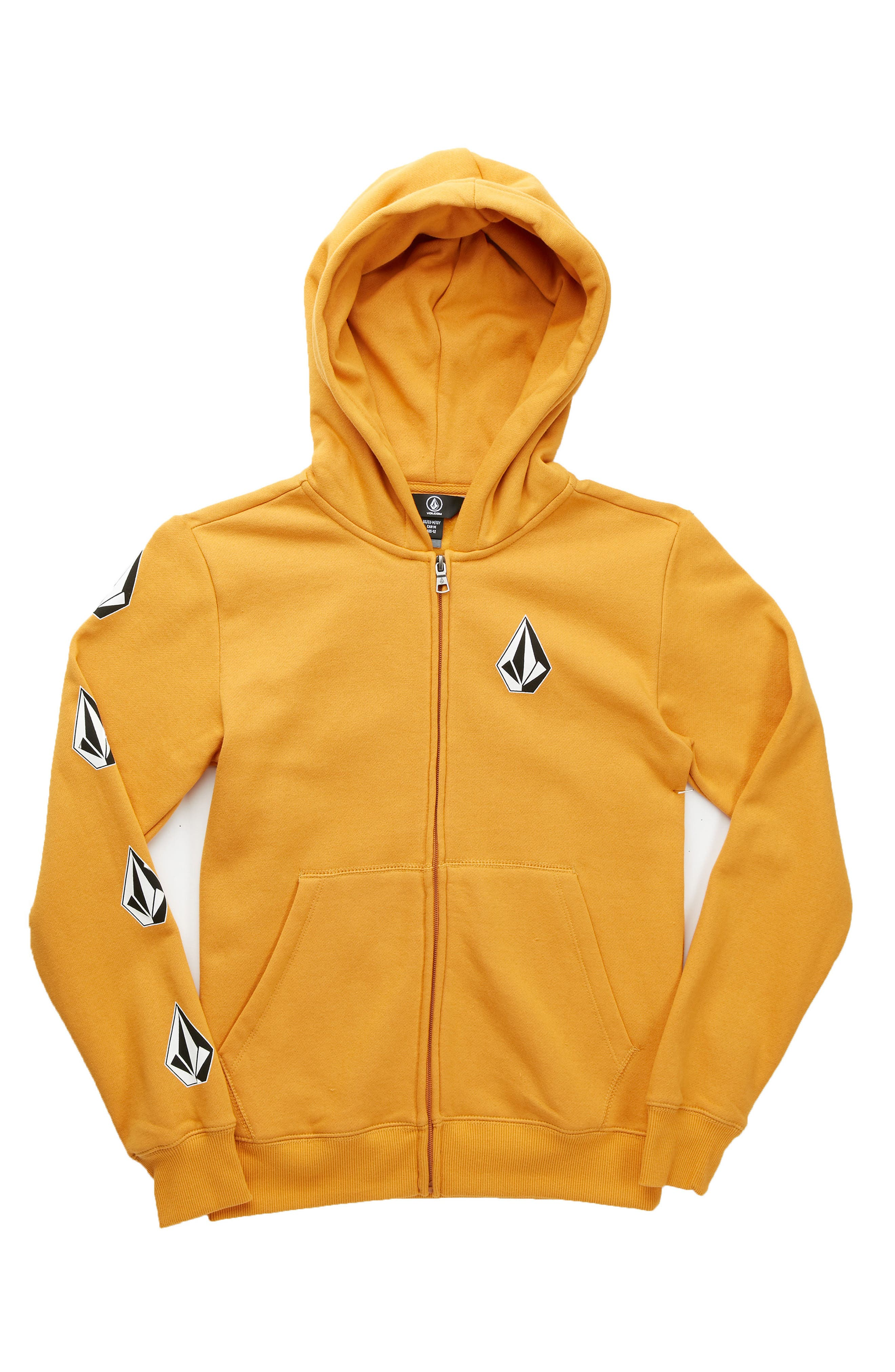 Supply Stone Graphic Zip Hoodie,                             Main thumbnail 1, color,                             Gold Vintage