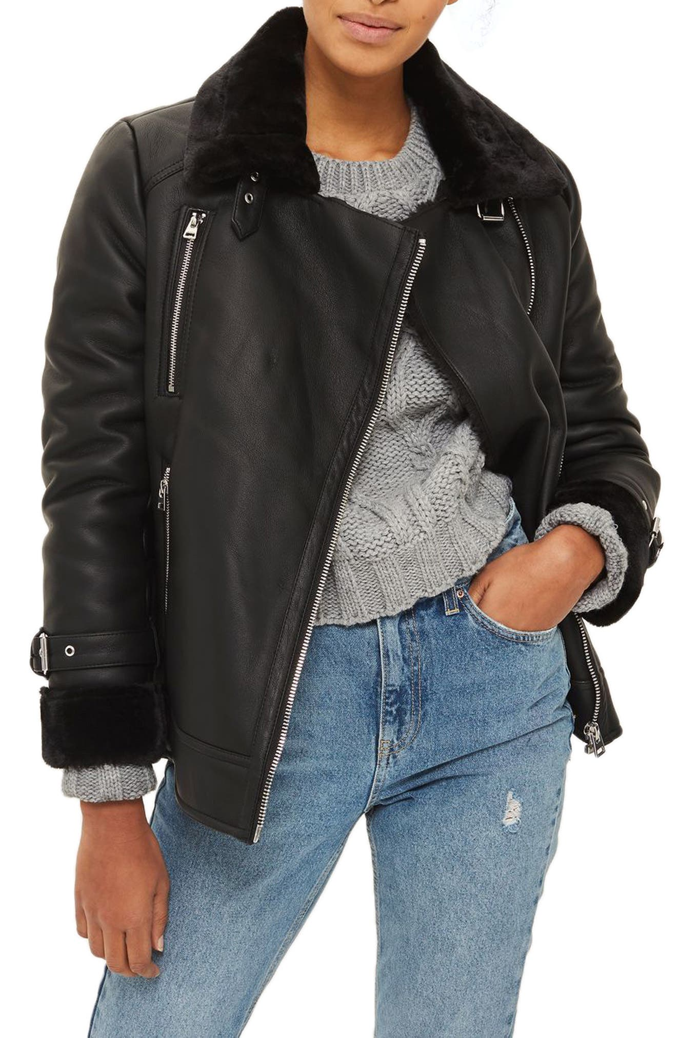 Topshop Lola Biker Jacket