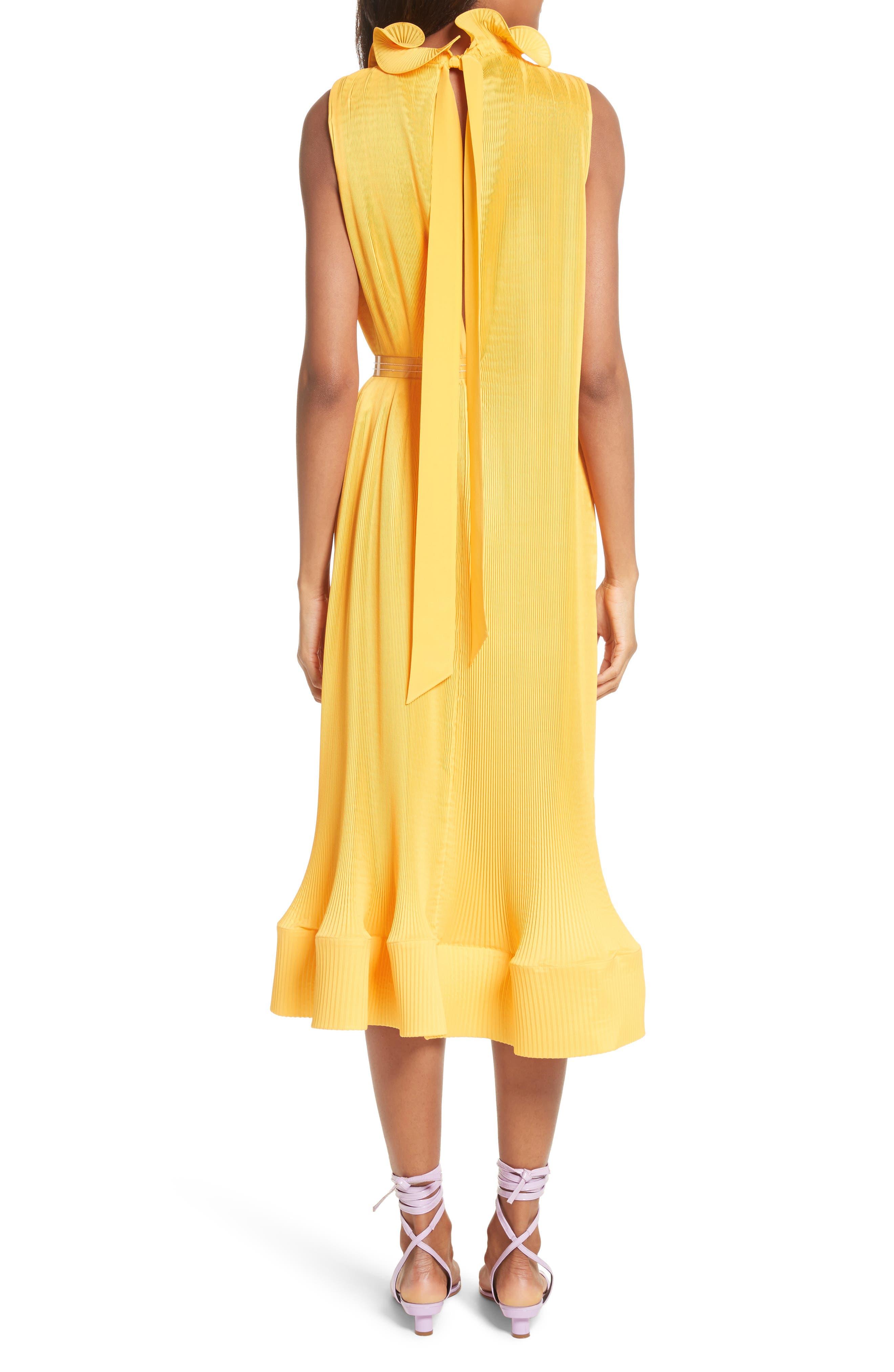 Asymmetrical Belted Dress,                             Alternate thumbnail 2, color,                             Sunray