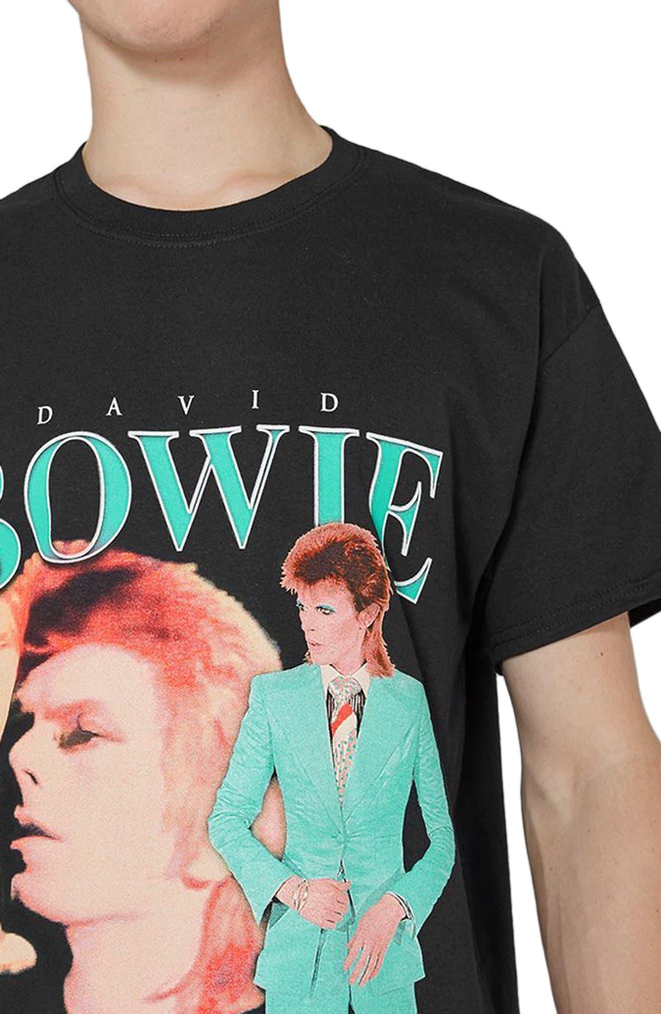 David Bowie Graphic T-Shirt,                             Alternate thumbnail 3, color,                             Black Multi
