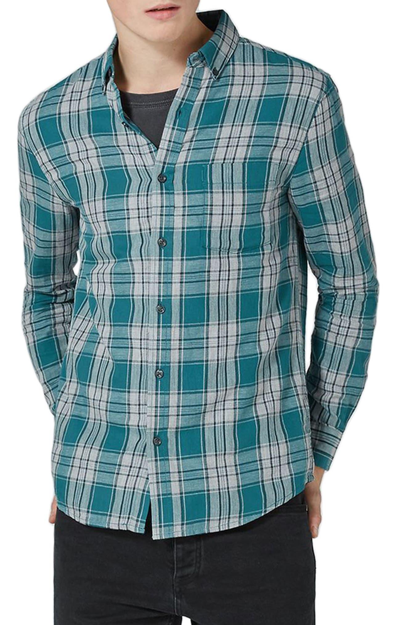 Charlie Check Shirt,                         Main,                         color, Blue Multi