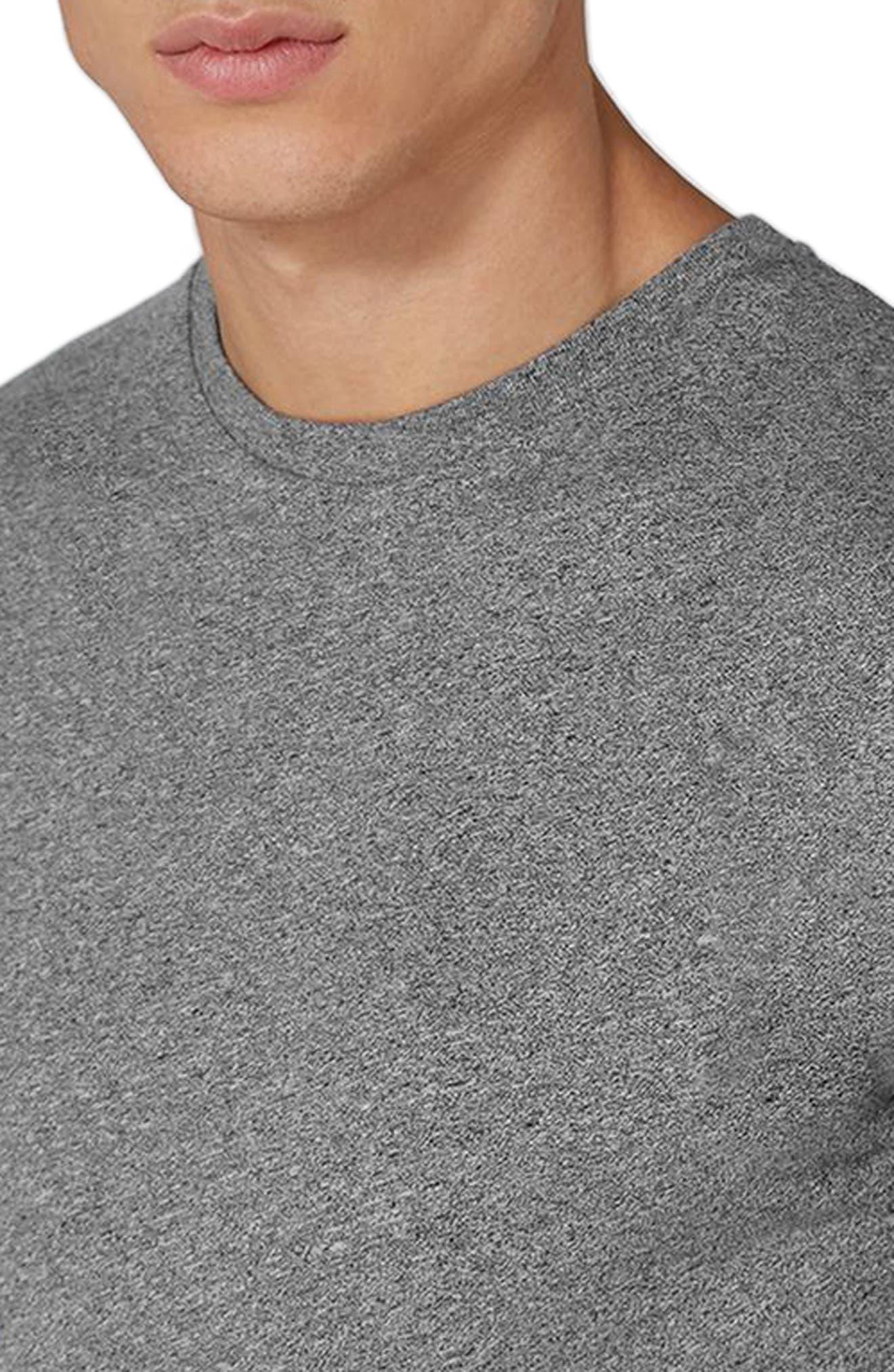 Muscle Fit Longline T-Shirt,                             Alternate thumbnail 3, color,                             Grey