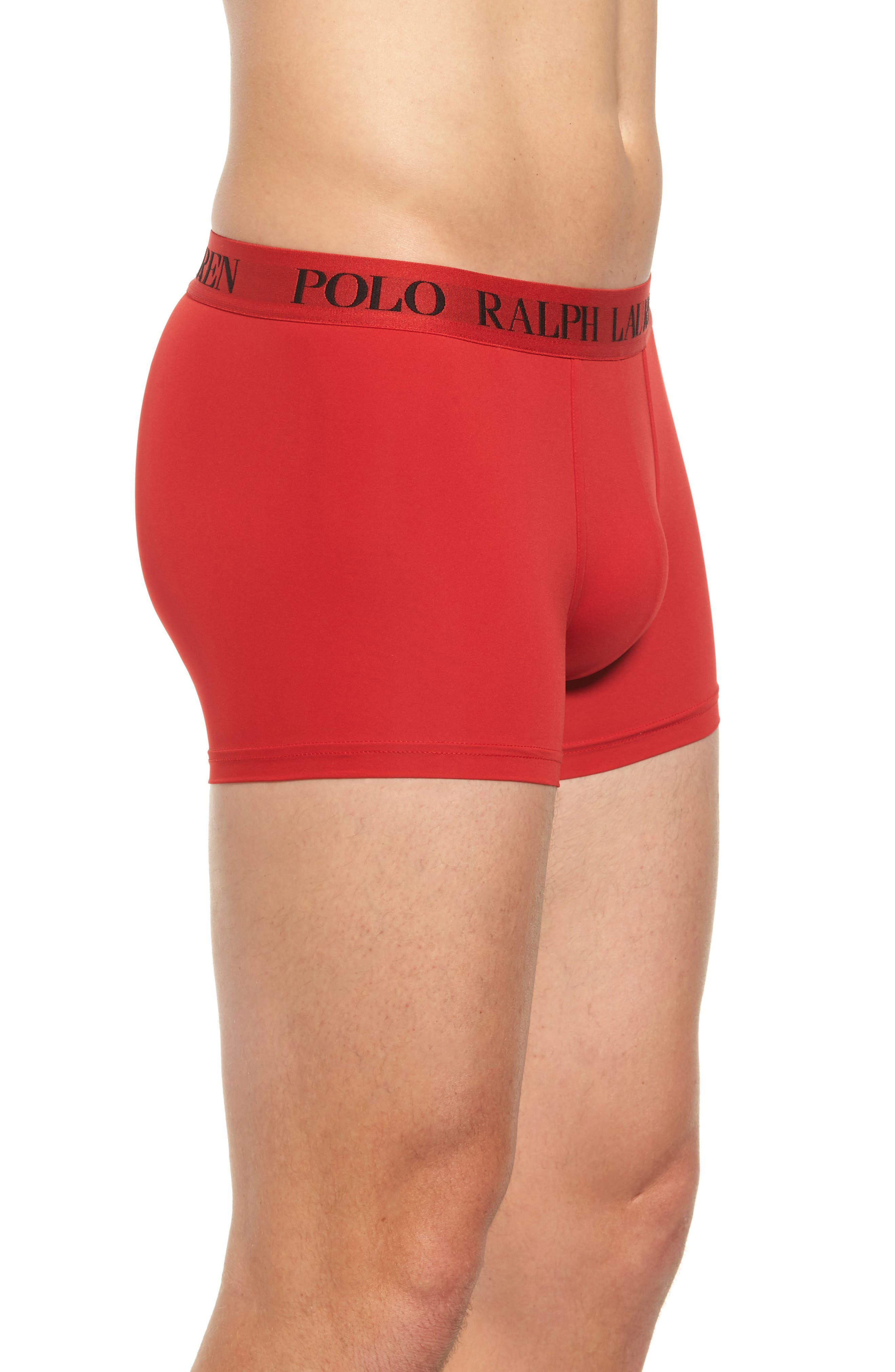 Microfiber Boxer Briefs,                             Alternate thumbnail 3, color,                             Rl2000 Red/ Polo Black