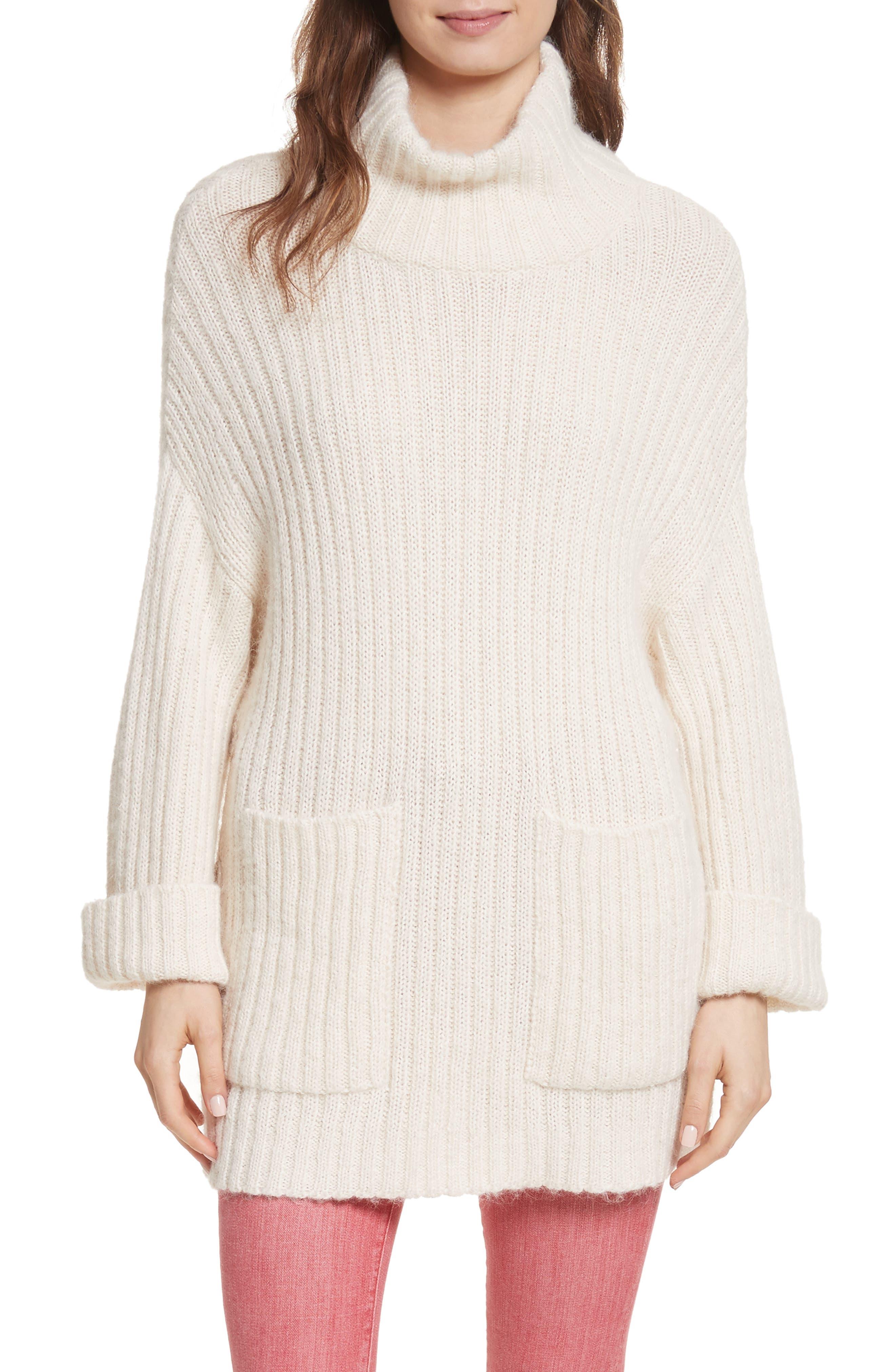 Banain Turtleneck Sweater,                         Main,                         color, Porcelain