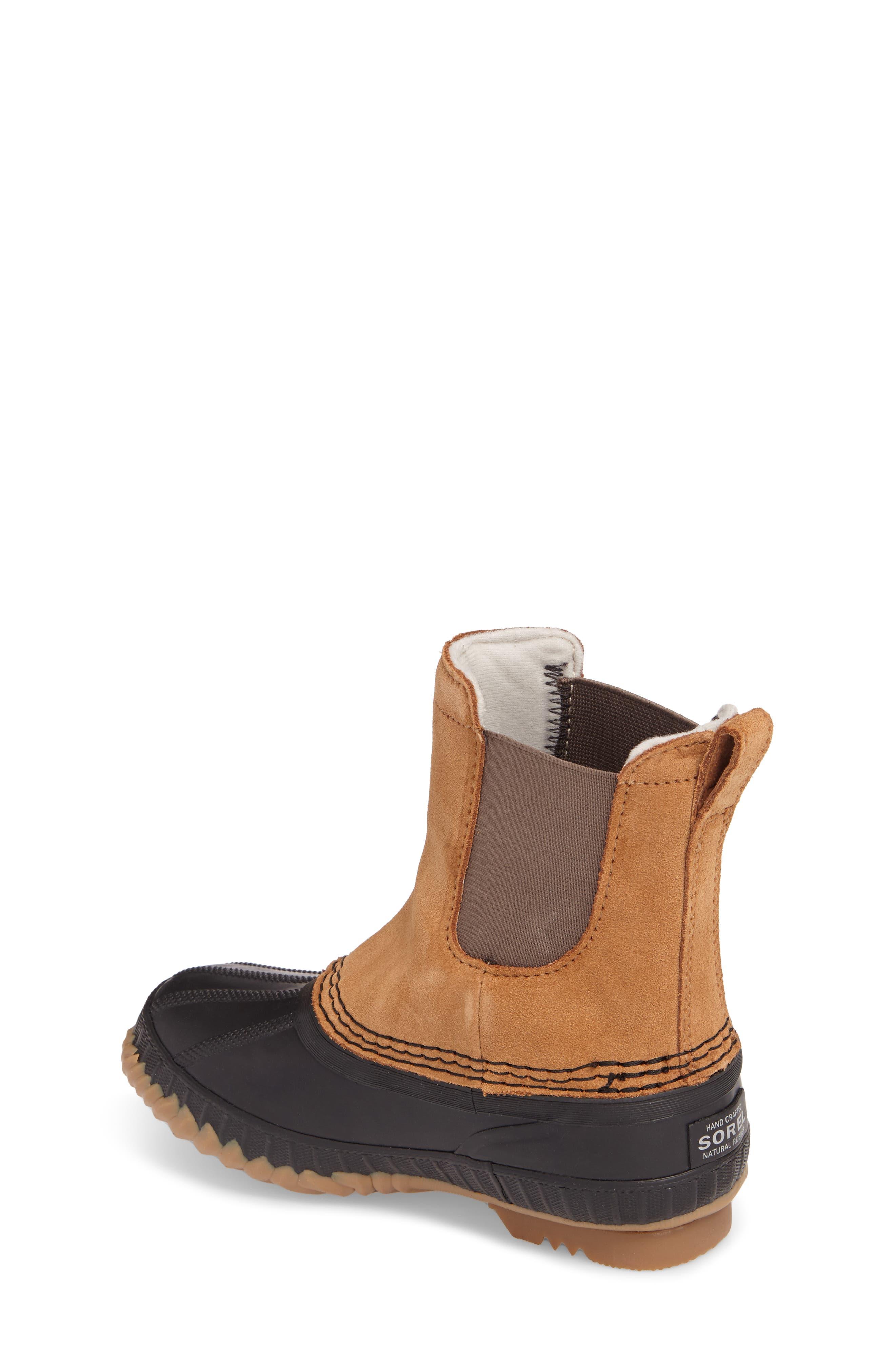 Cheyanne II Waterproof Insulated Chelsea Boot,                             Alternate thumbnail 2, color,                             Elk/ Black