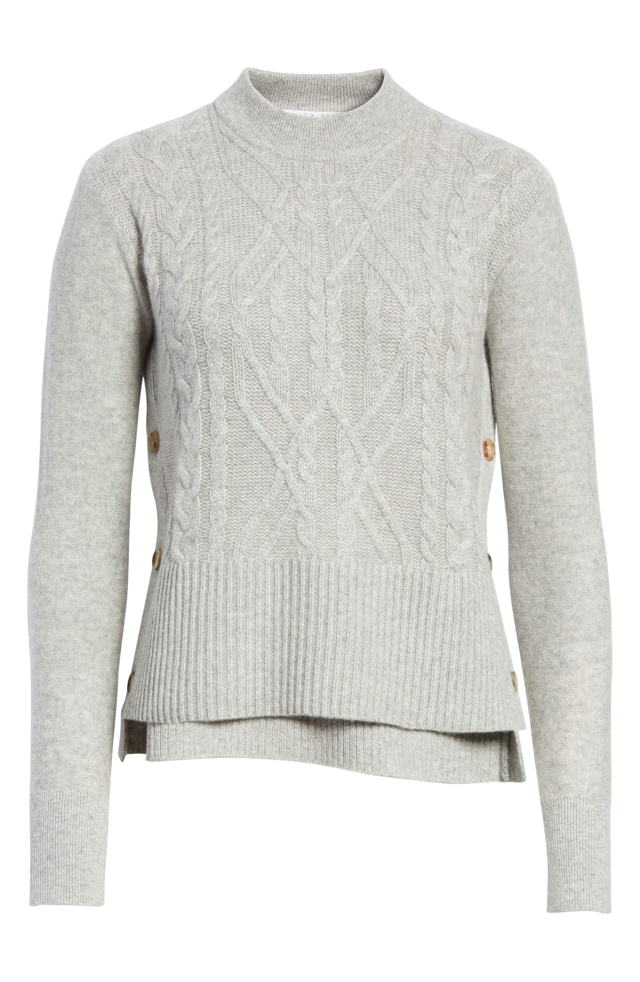 Kenna Cashmere Sweater,                             Alternate thumbnail 6, color,                             Grey