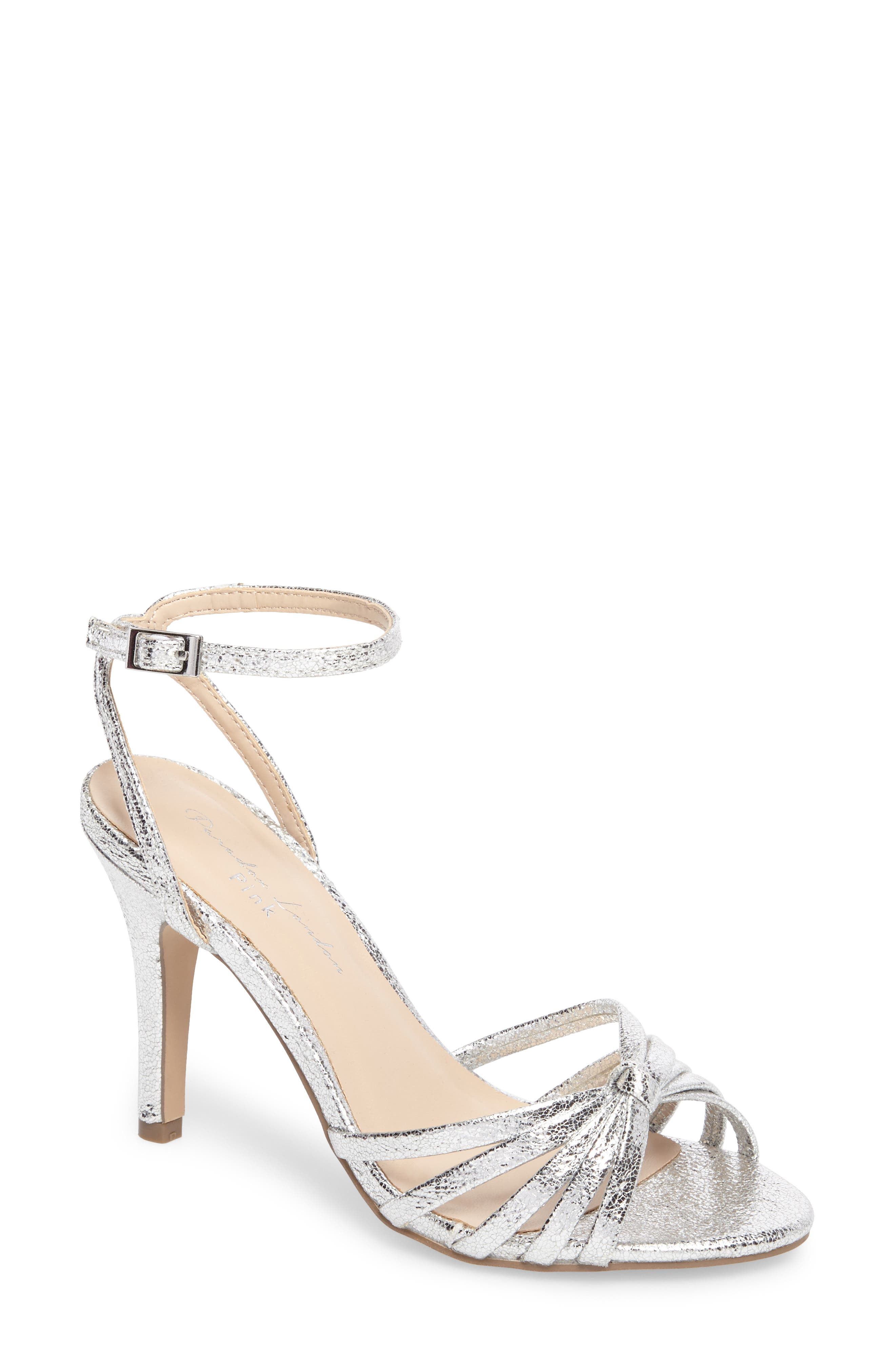Mady Sandal,                         Main,                         color, Silver Glitter