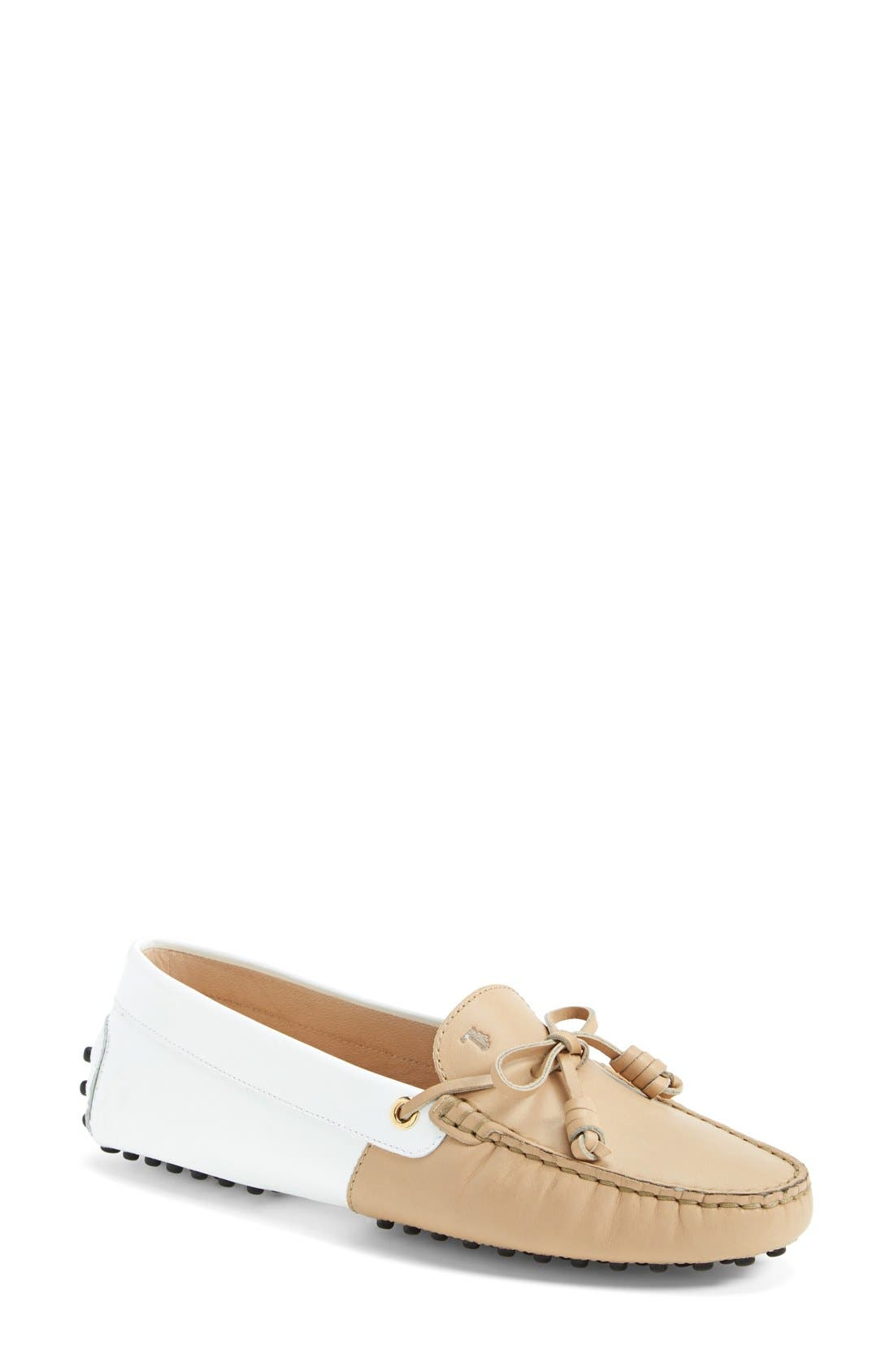 Alternate Image 1 Selected - Tod's 'Gommini - Curly' Leather Driving Moccasin (Women)