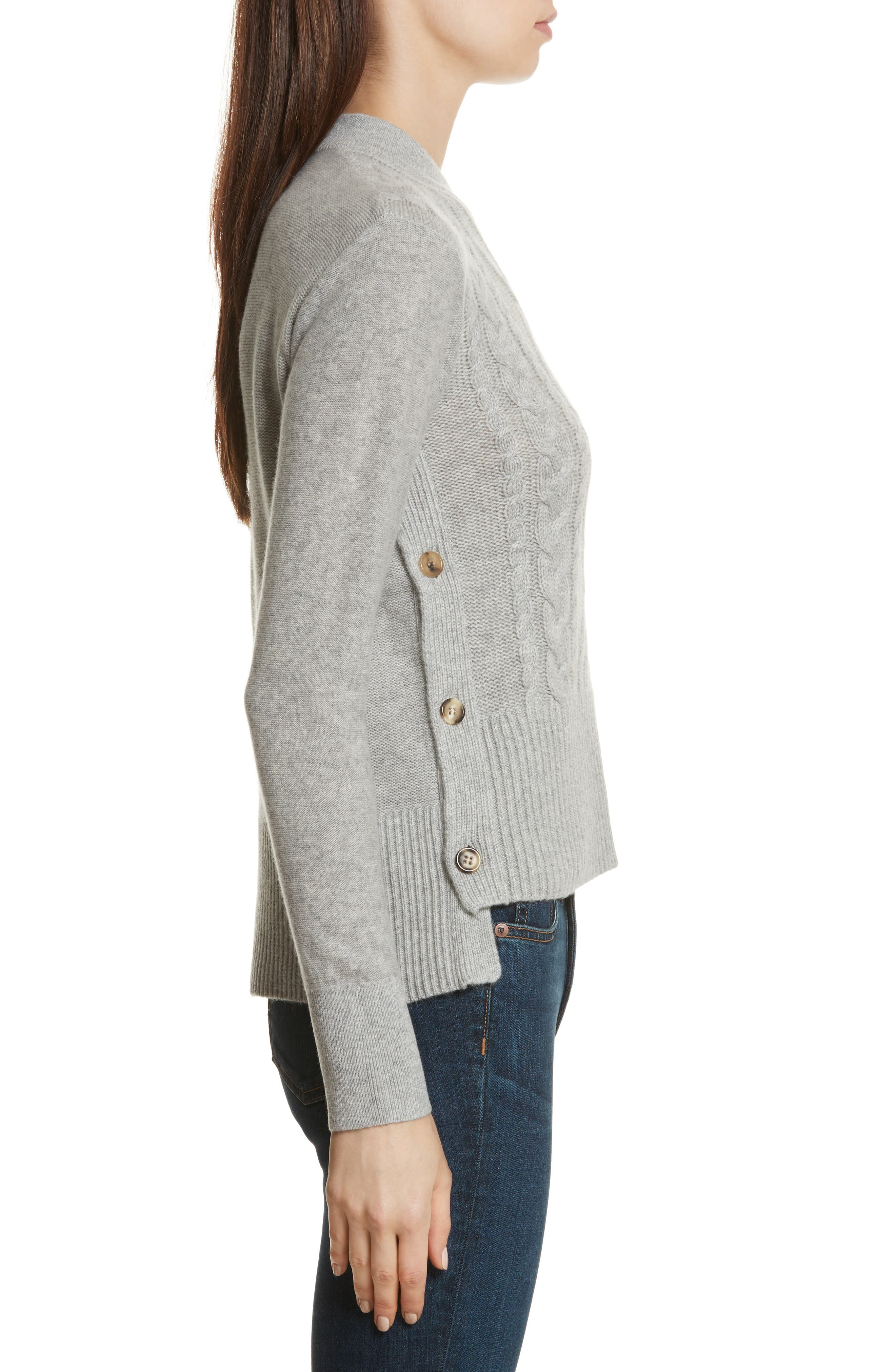 Kenna Cashmere Sweater,                             Alternate thumbnail 3, color,                             Grey