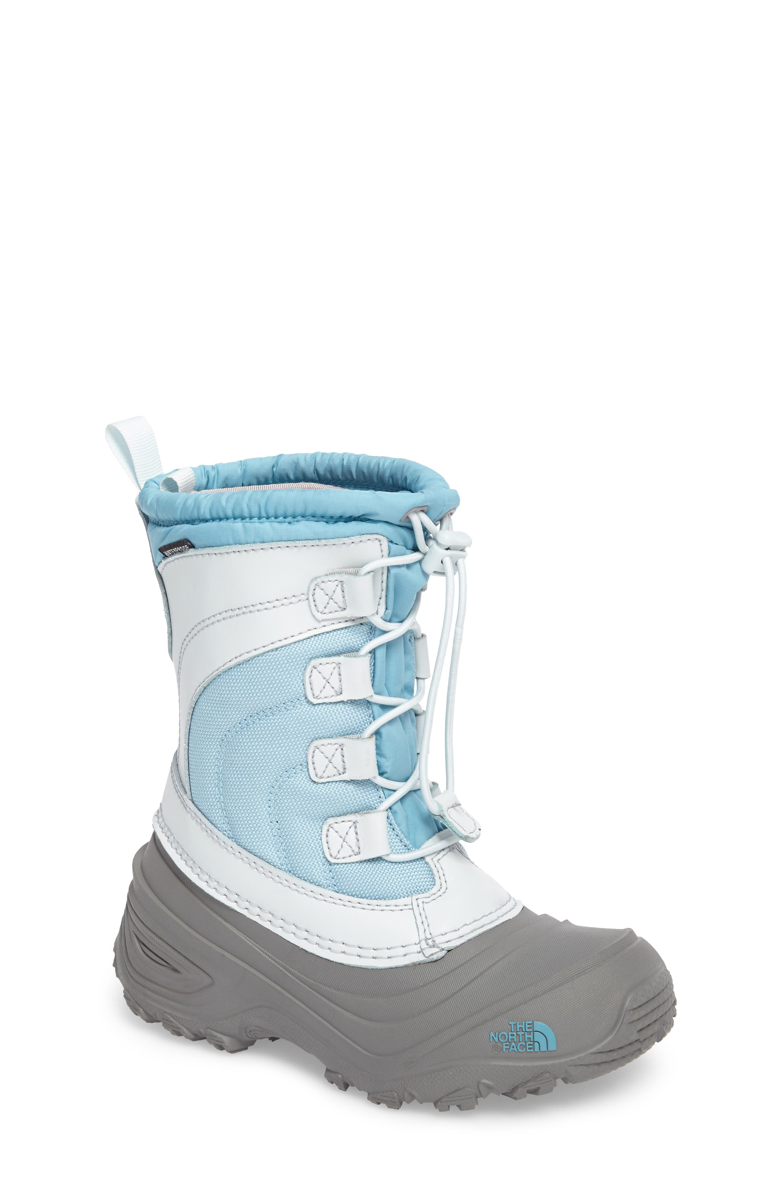 Alpenglow IV Waterproof Insulated Winter Boot,                         Main,                         color, Blizzard Blue/ Ice Blue