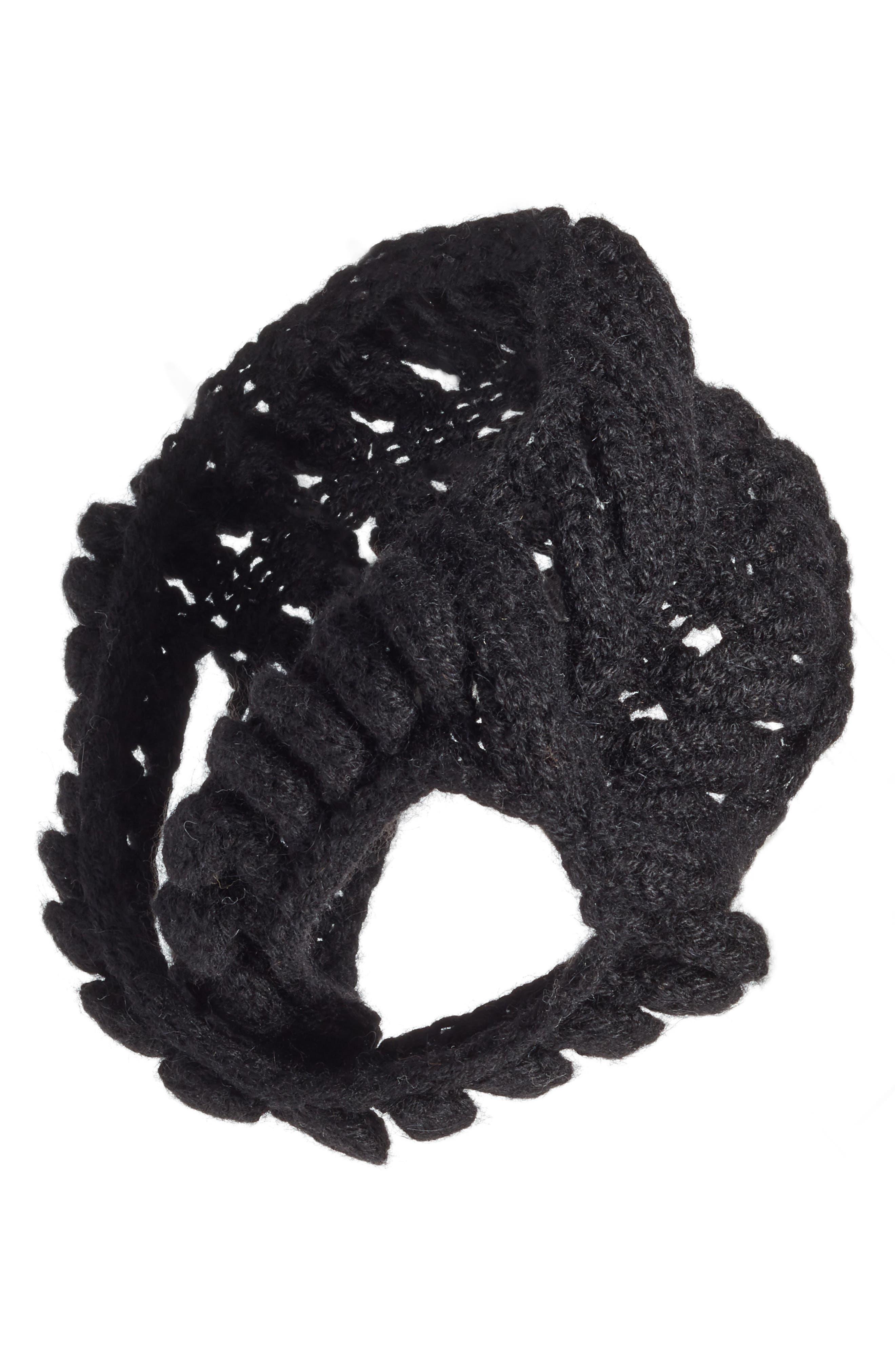 Soho Alpaca Headband,                             Main thumbnail 1, color,                             Black