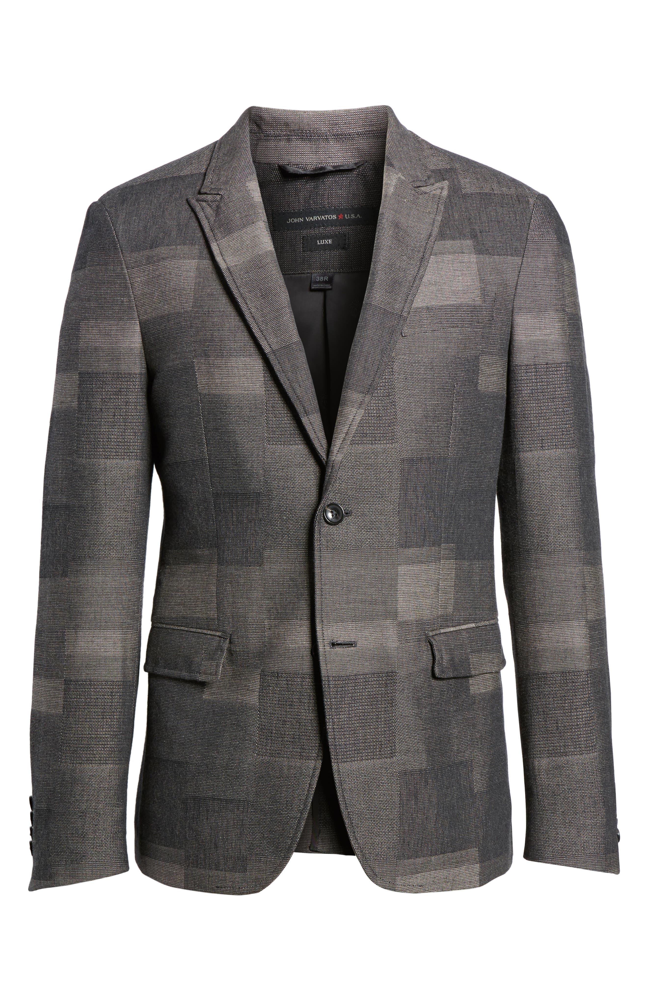 Cotton & Linen Sport Coat,                             Alternate thumbnail 6, color,                             Cement