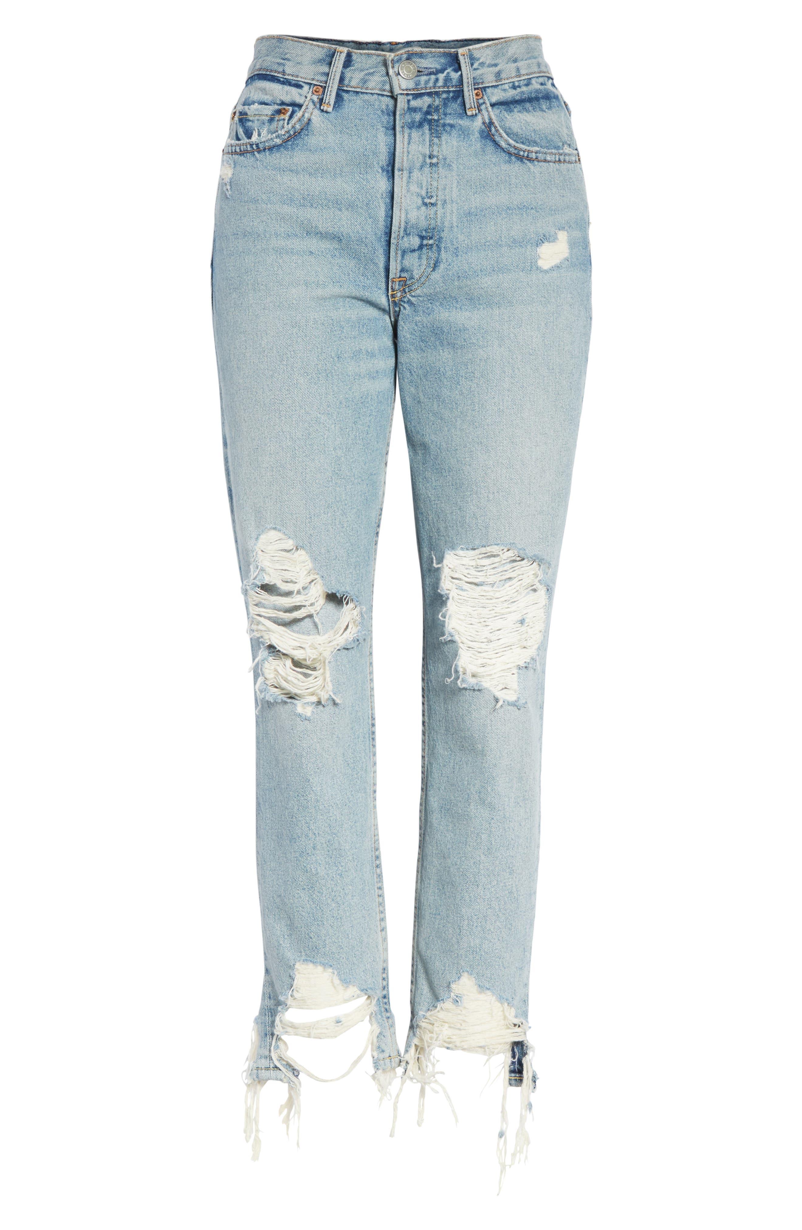 Karolina High Waist Jeans,                             Alternate thumbnail 5, color,                             Tough Love G538