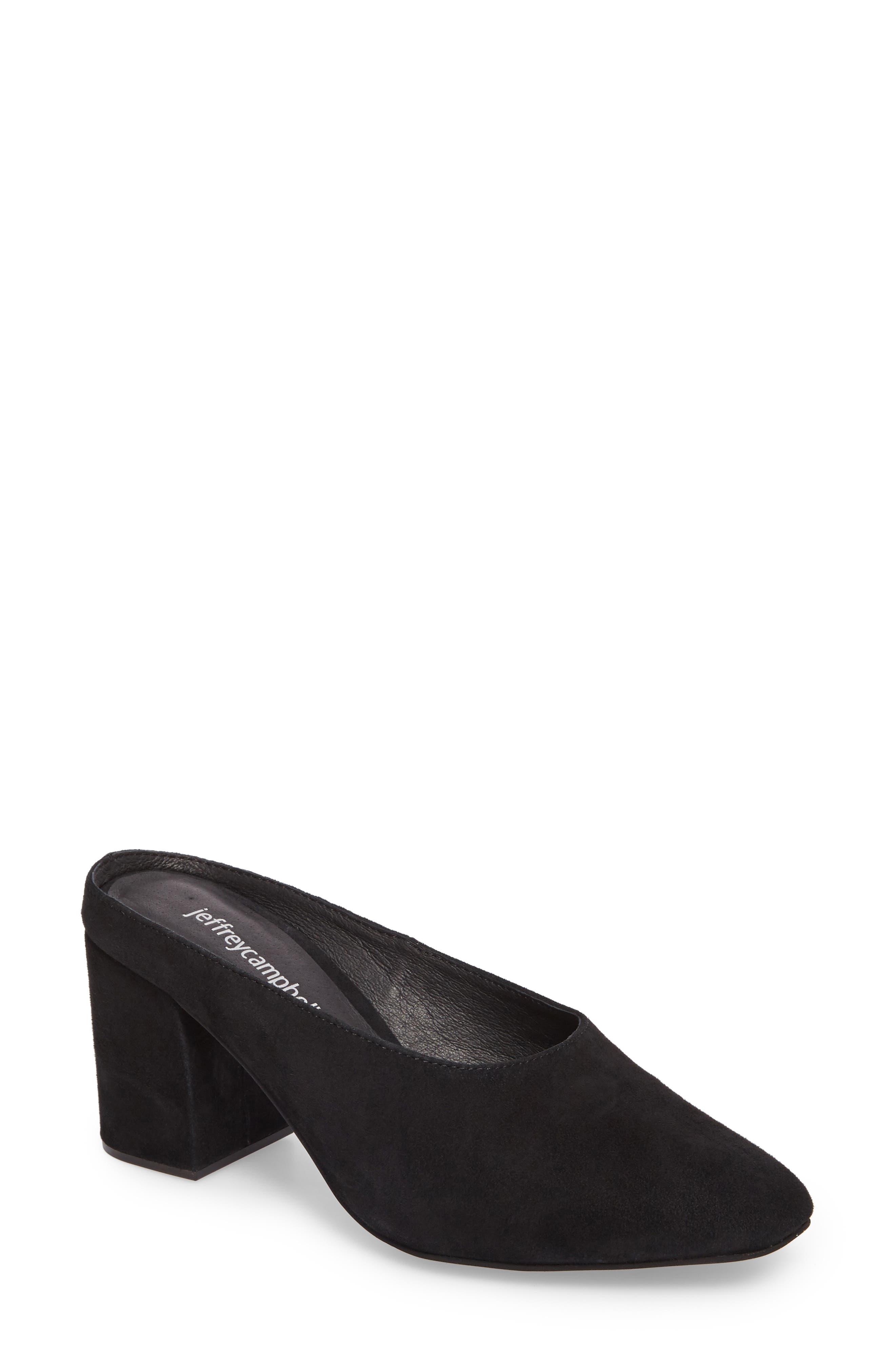 Lamer Mule,                         Main,                         color, Black Suede