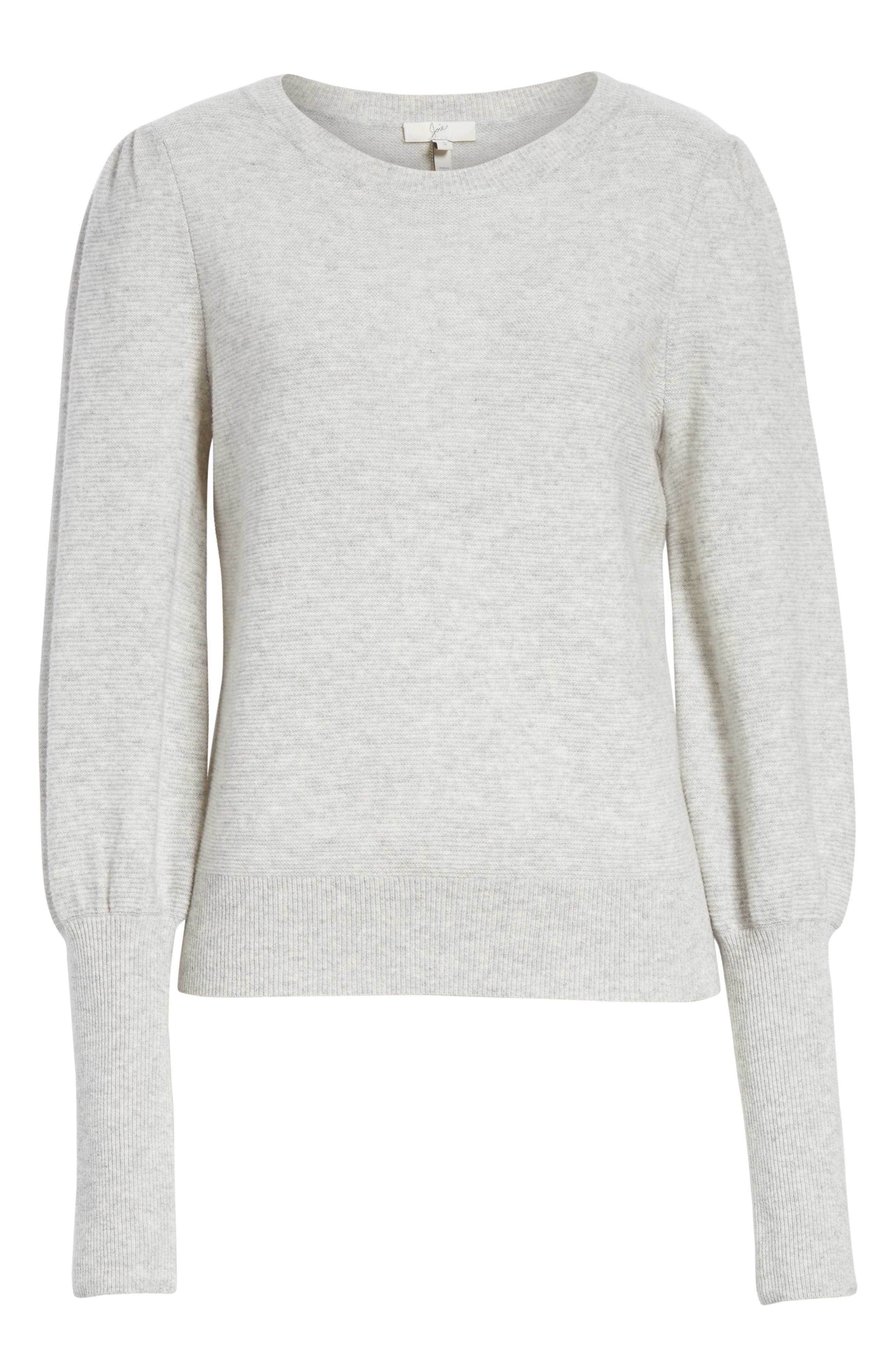 Noely Wool and Cashmere Sweater,                             Alternate thumbnail 6, color,                             Light Heather Grey