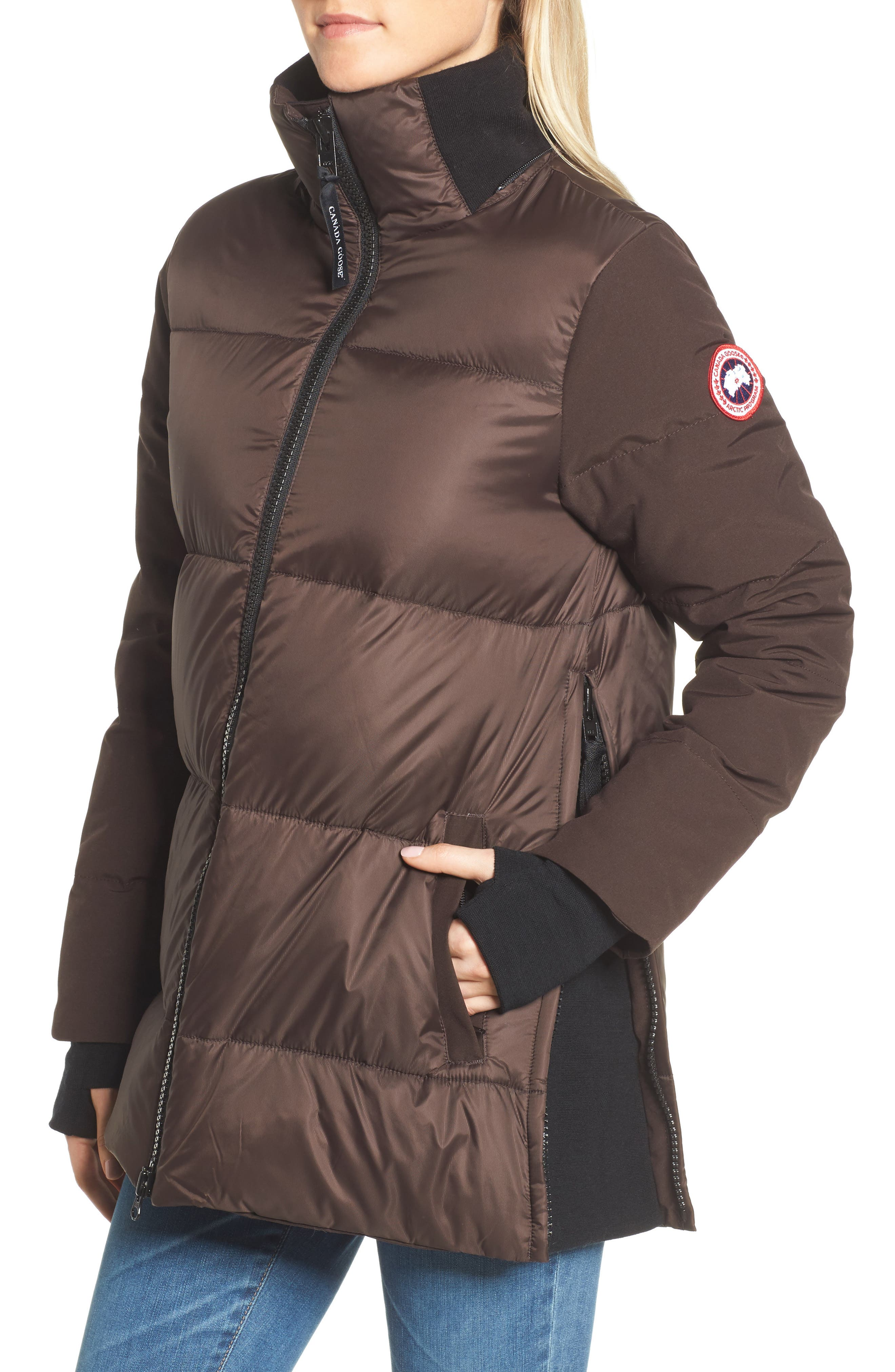 Whitehorse Hooded Water Resistant 675-Fill-Power Down Parka,                             Alternate thumbnail 4, color,                             Charred Wood