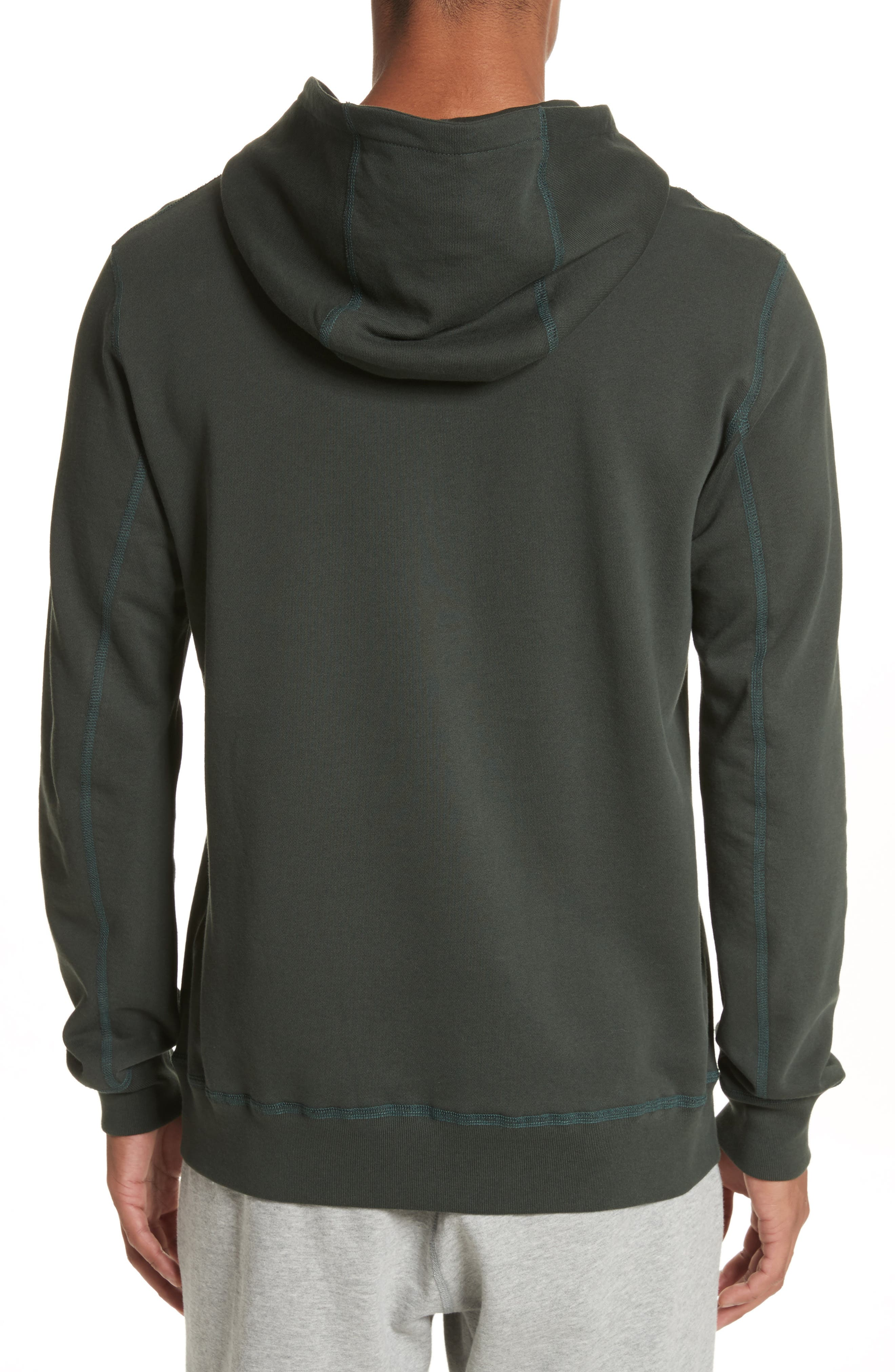 Hoodie,                             Alternate thumbnail 2, color,                             Jungle Green