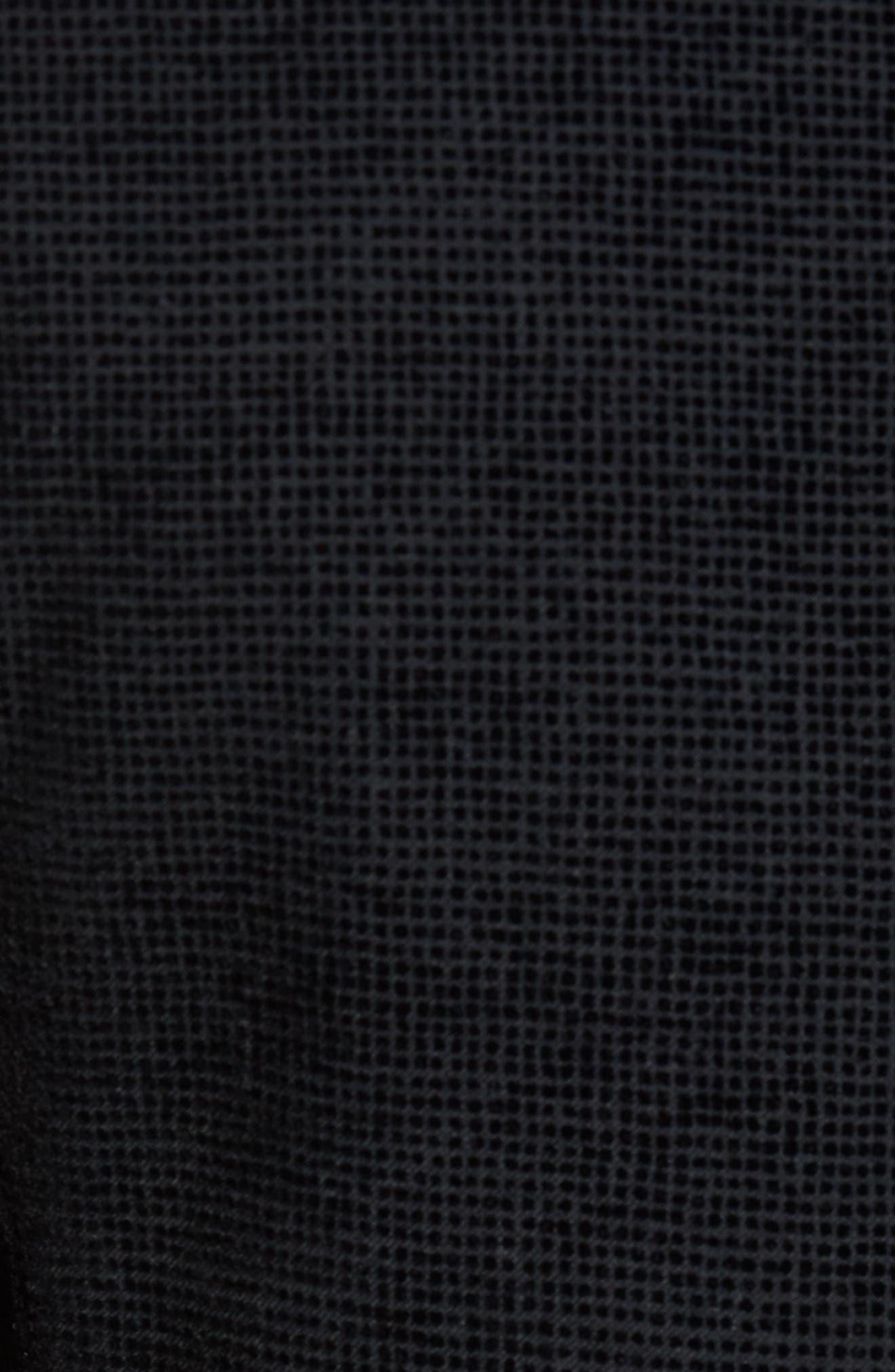Exhaust Slim Fit Velvet Flocked Blazer,                             Alternate thumbnail 5, color,                             Black