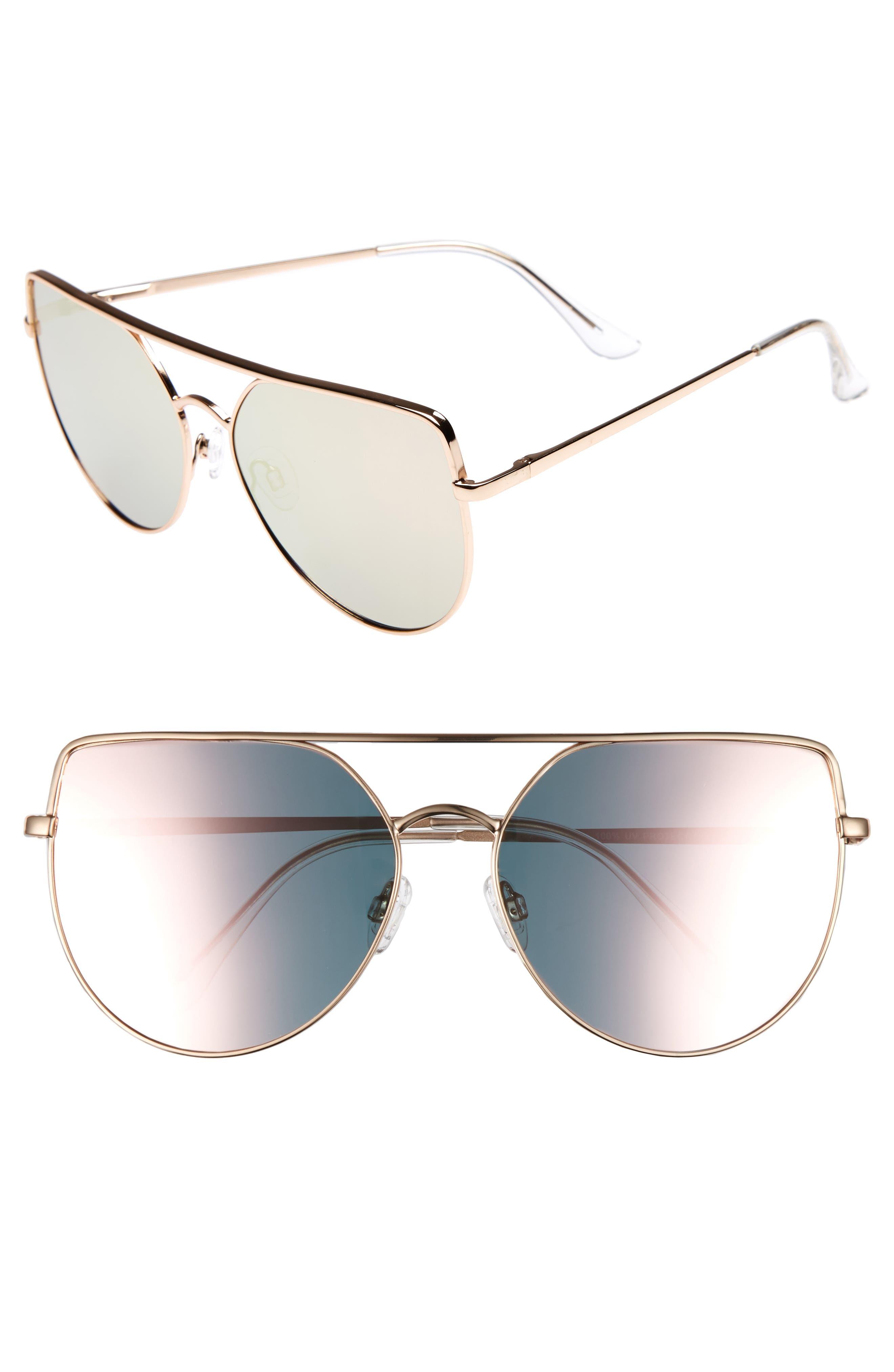 Main Image - Leith 60mm Aviator Sunglasses