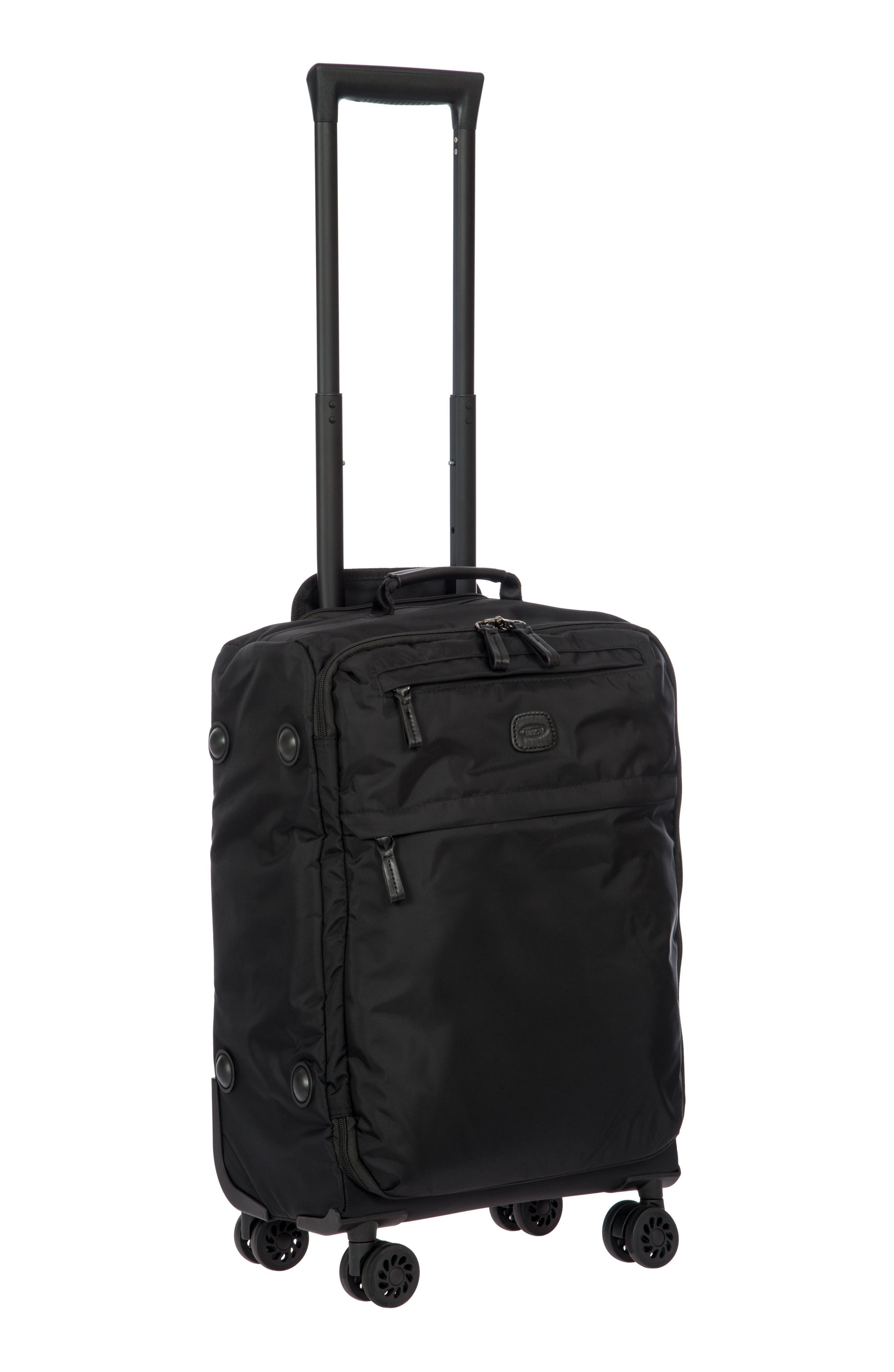 X-Bag 21-Inch Spinner Carry-On,                             Alternate thumbnail 7, color,                             Black/ Black