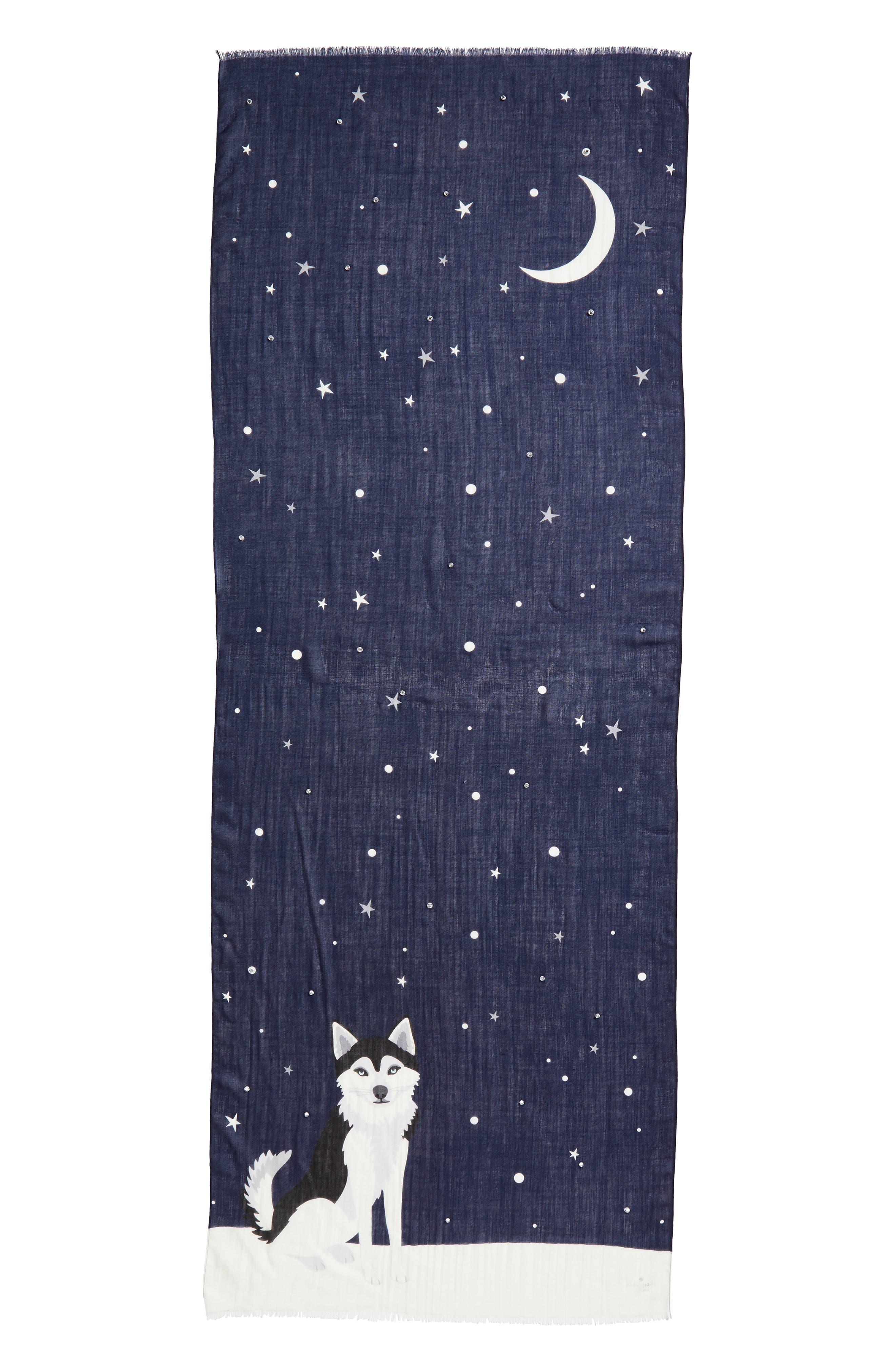 Alternate Image 2  - kate spade new york husky dog oblong wool scarf
