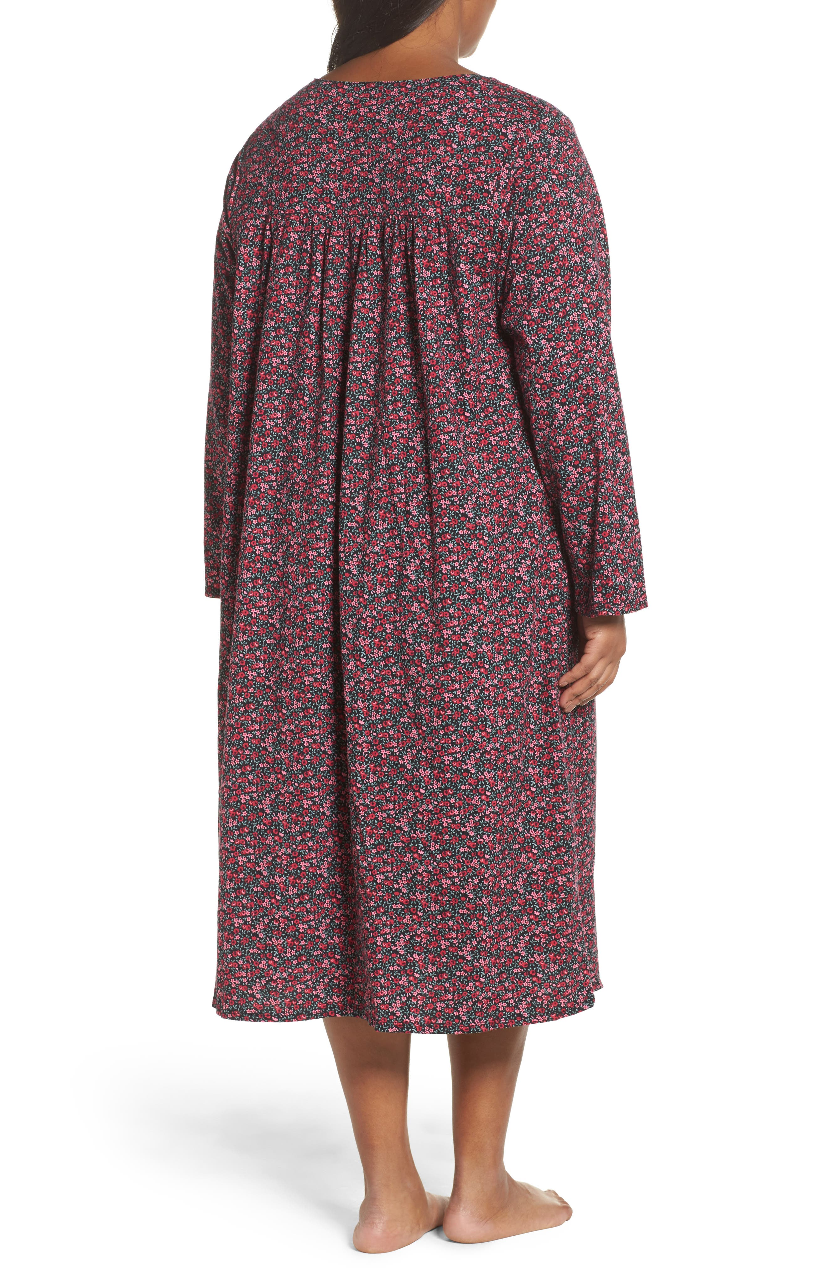 Alternate Image 2  - Eileen West Cotton Nightgown (Plus Size)